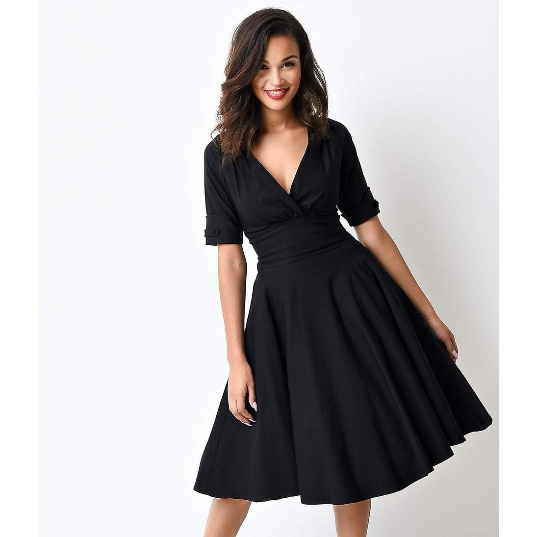 275498419a0c0 Shop Unique Vintage Black Delores Swing Dress - Free Shipping Today -  Overstock - 21025363