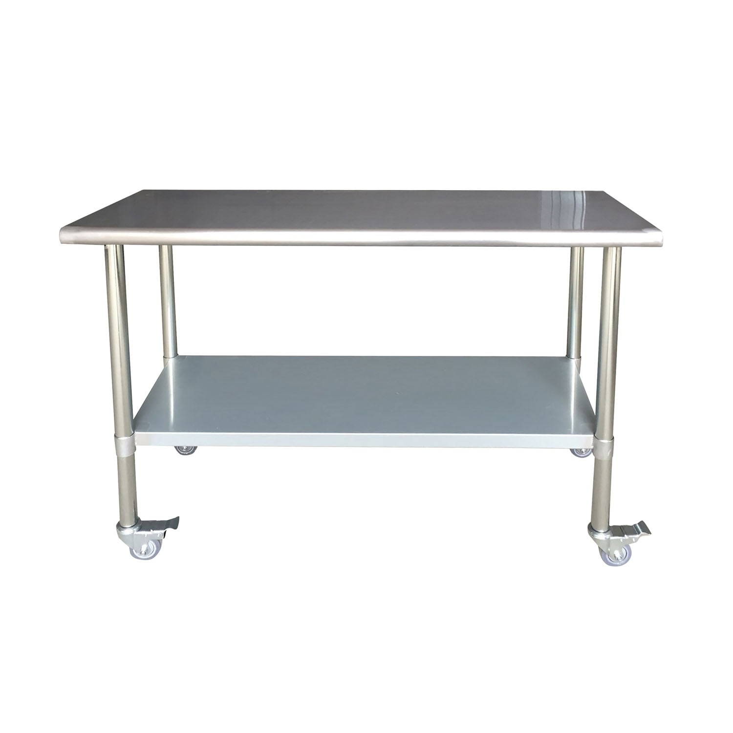 Shop Offex Series Stainless Steel Work Table With Casters X - Stainless steel work table with casters