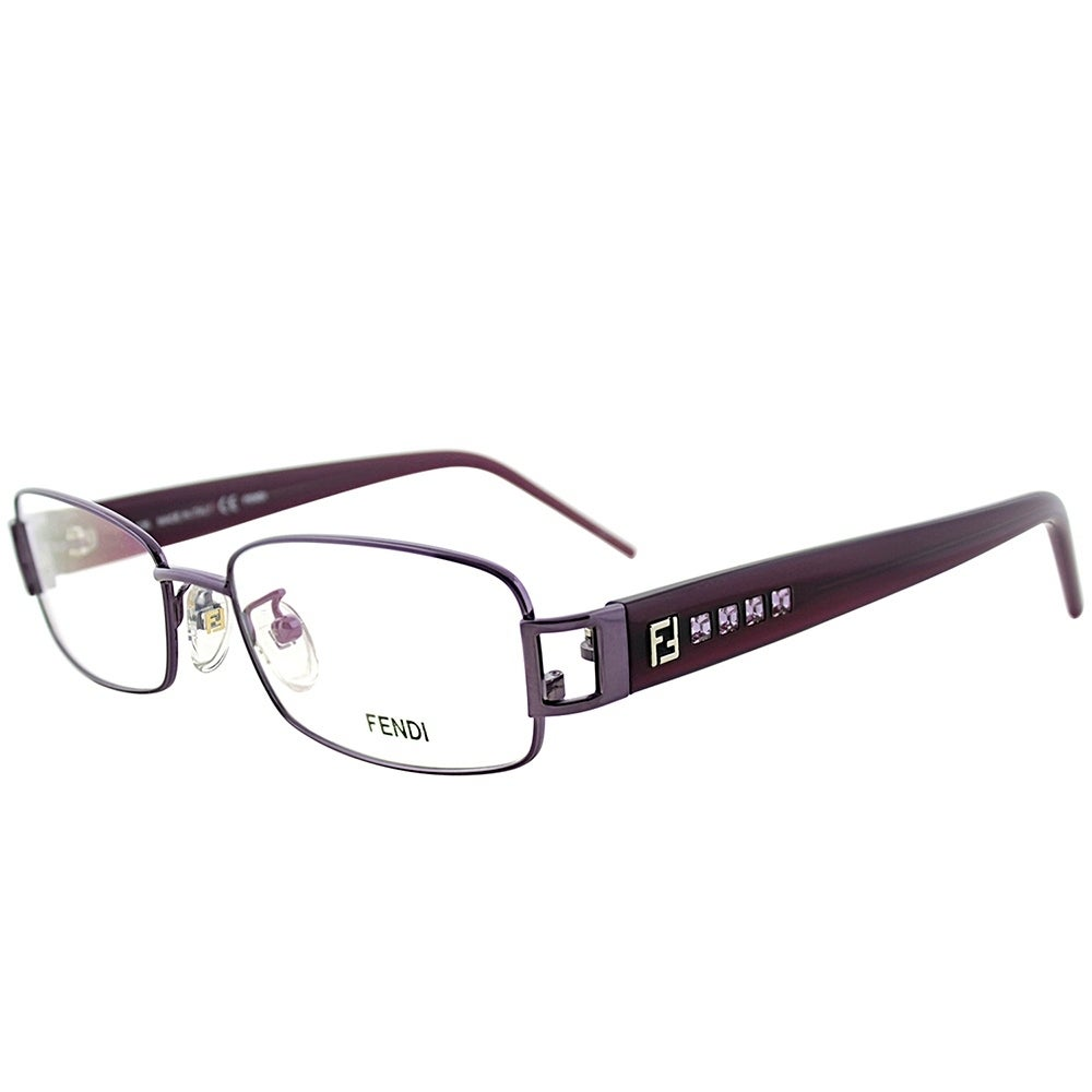 83ff2c70d04a Shop Fendi Rectangle FE 941R 531 Women Purple Frame Eyeglasses ...
