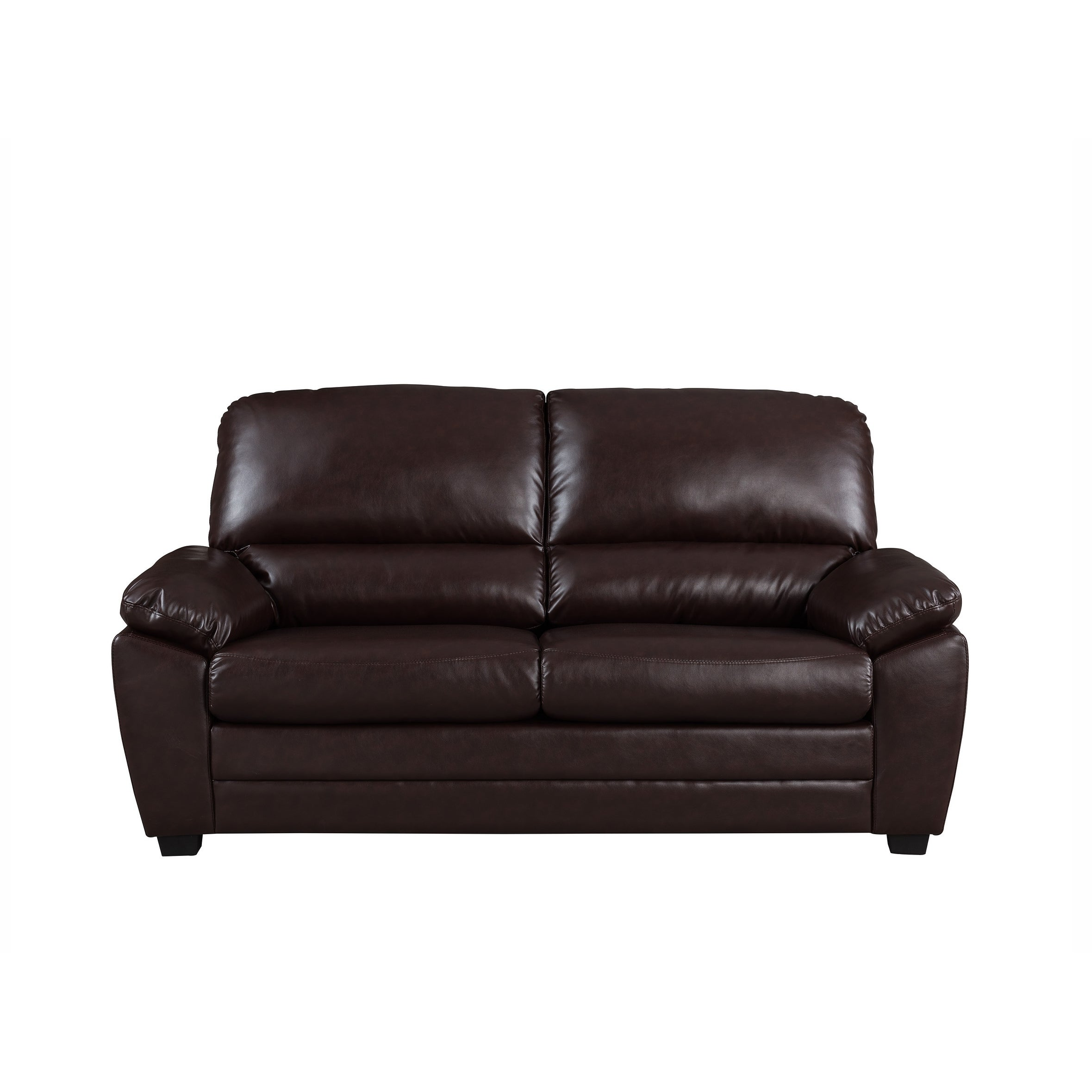 Cary 71 Dark Brown Faux Leather Sofa On Free Shipping Today 21030296