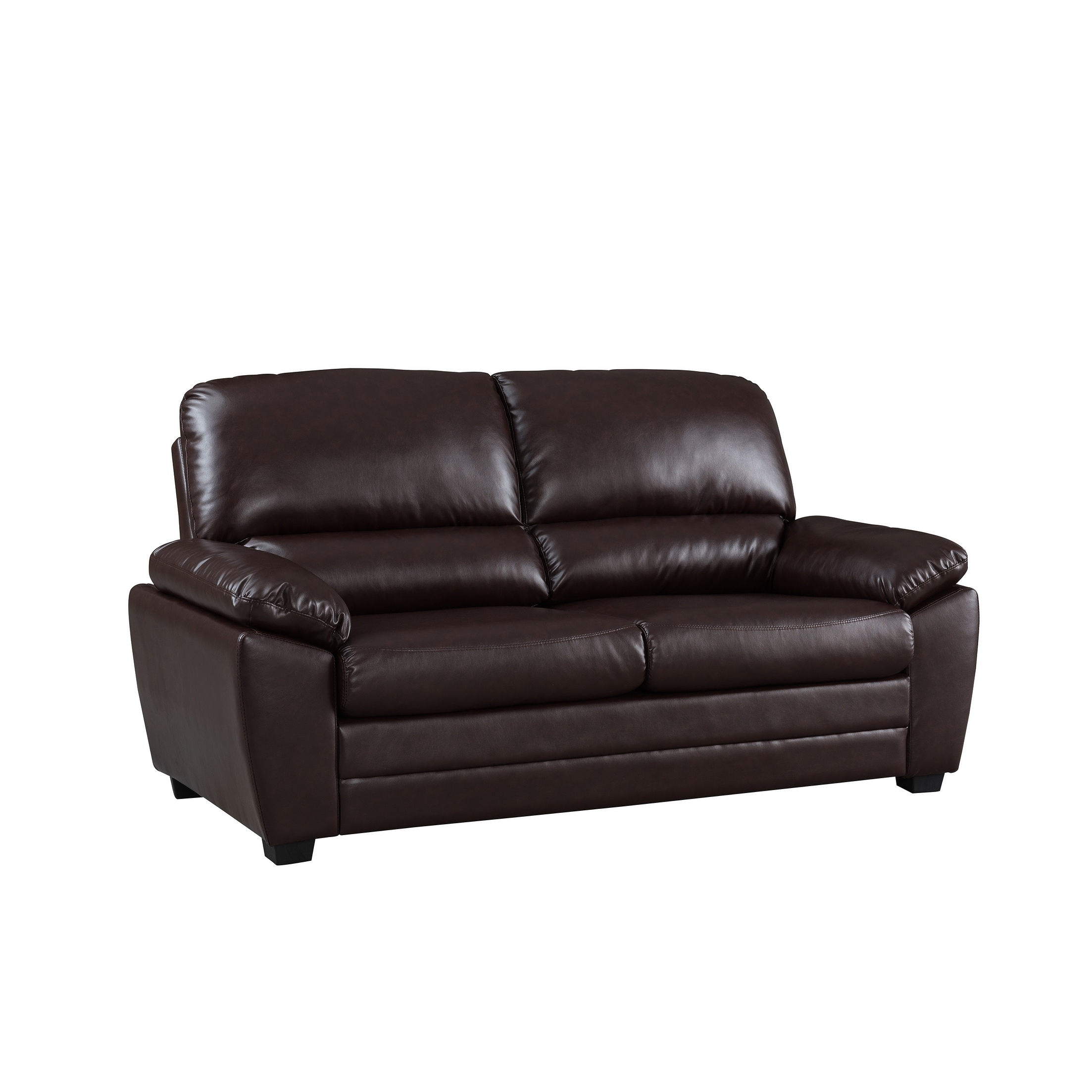 Shop Cary 71 Dark Brown Faux Leather Sofa On Sale Free Shipping