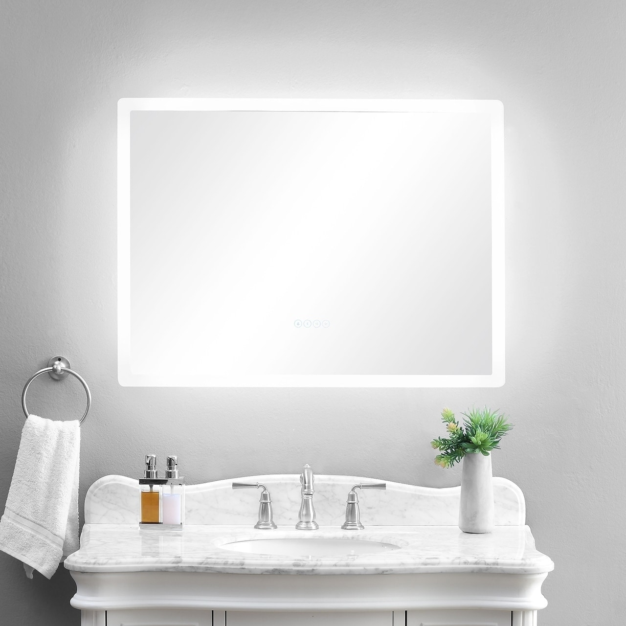 Shop smartLED Illuminated Fog-Free Bathroom Mirror with Built-In ...
