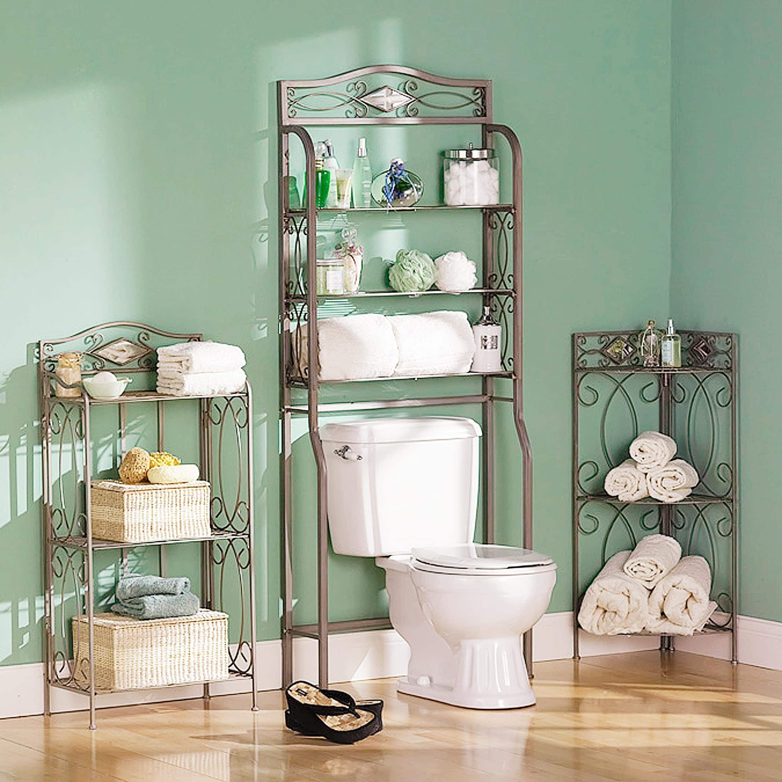 Shop Reflections 3-tier Metal Bathroom Storage Rack - On Sale - Free ...