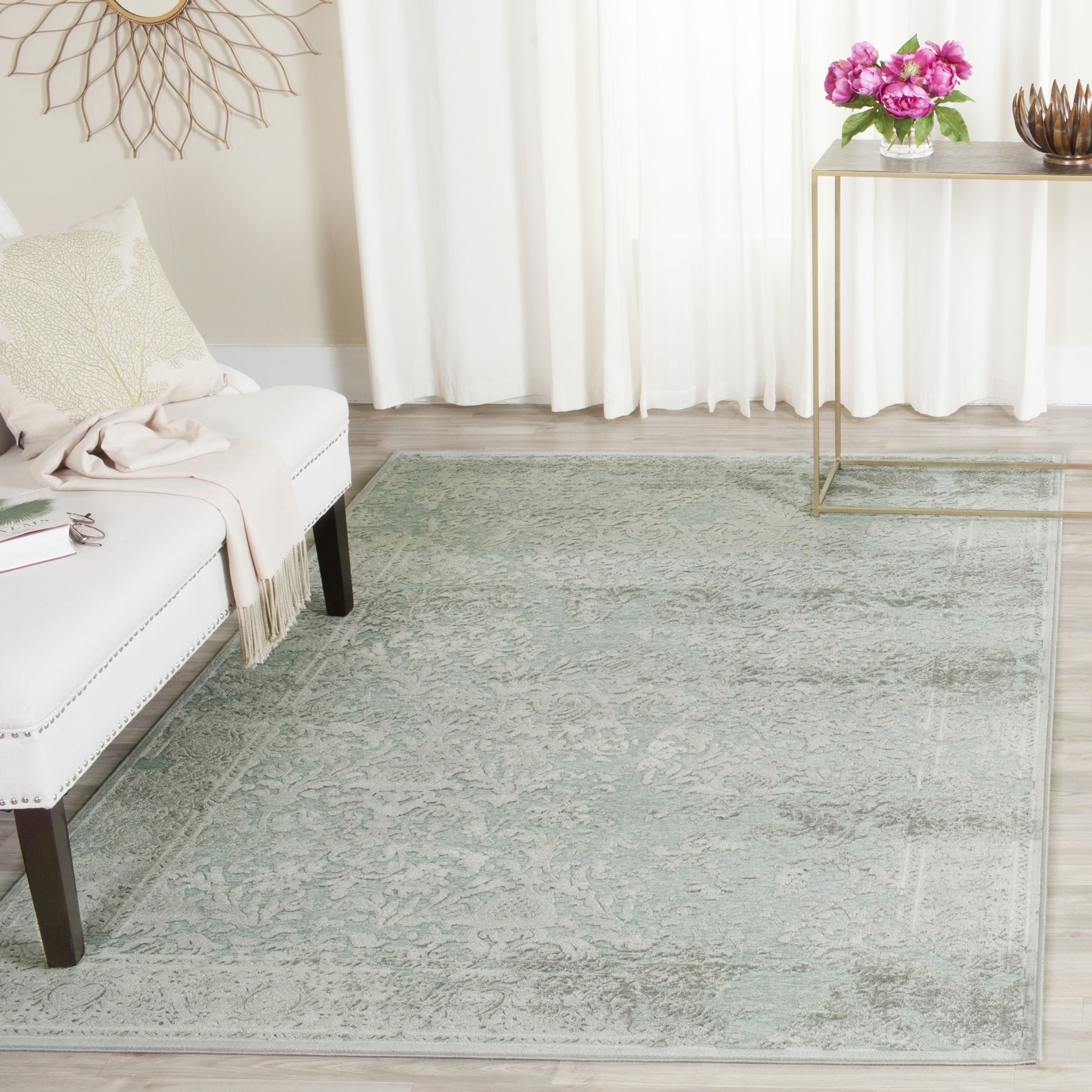 Safavieh paradise light grey spruce viscose rug 8 x 11 2