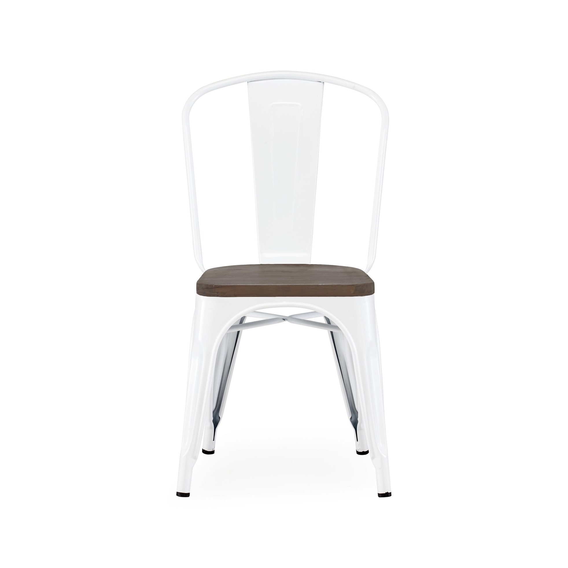 Amalfi Glossy White Elm Wood Stackable Side Chair (Set Of 2)   Free  Shipping Today   Overstock   26874388