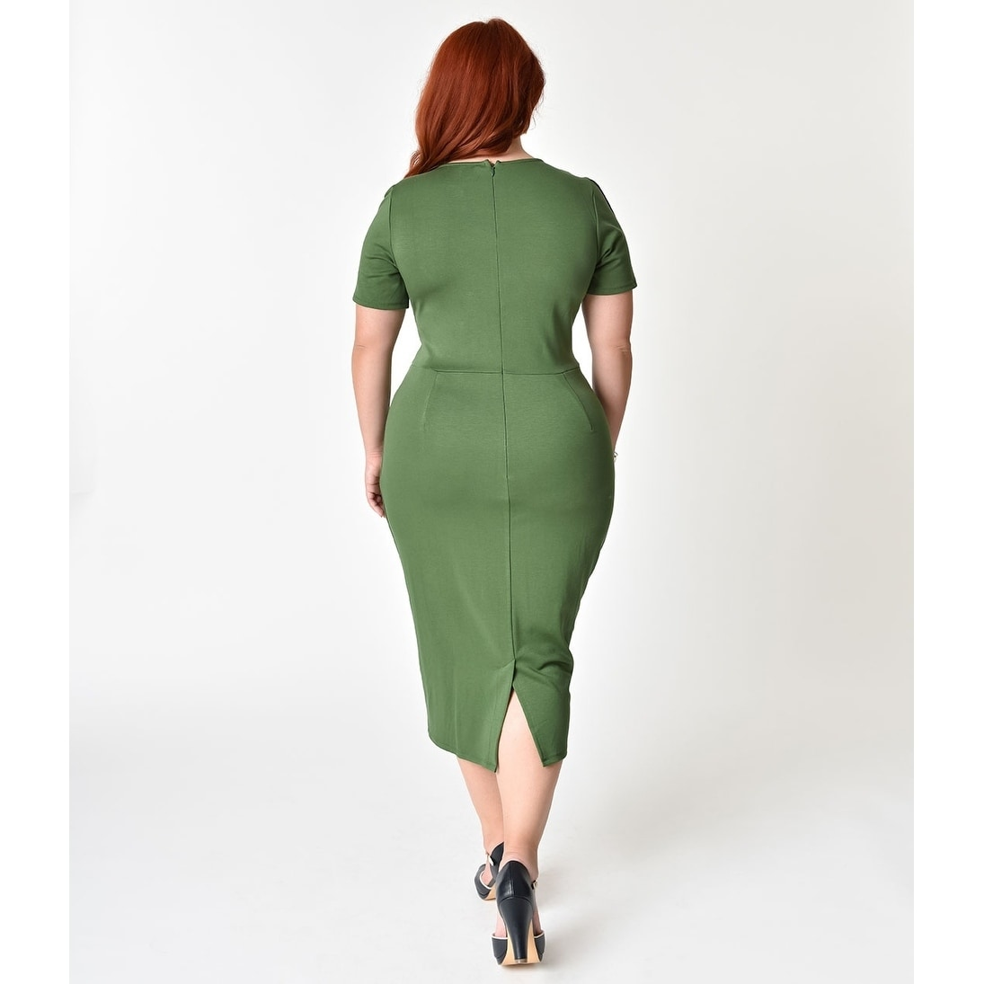 0d357dd64f Shop Unique Vintage Matcha Green Stretch Mod Wiggle Dress - Free Shipping  Today - Overstock - 21107338