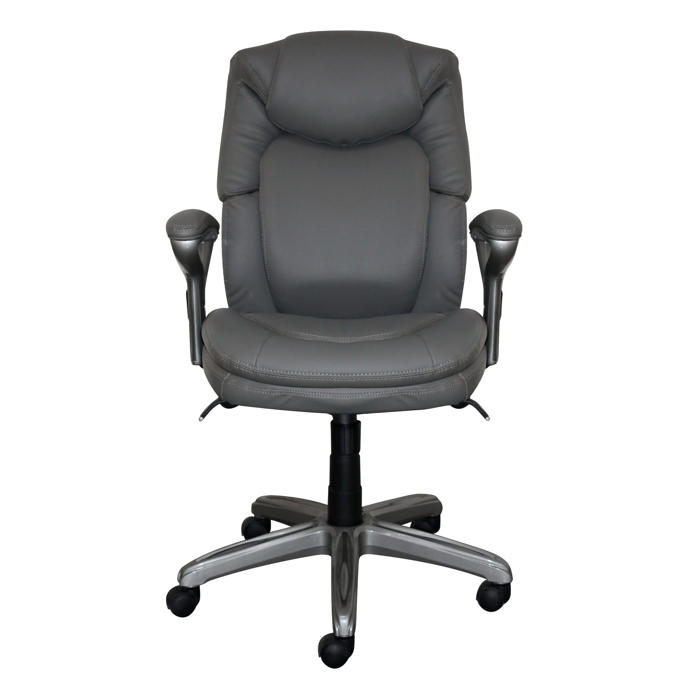 Shop Serta Wellness By Design Mid Back Leather Office Chair