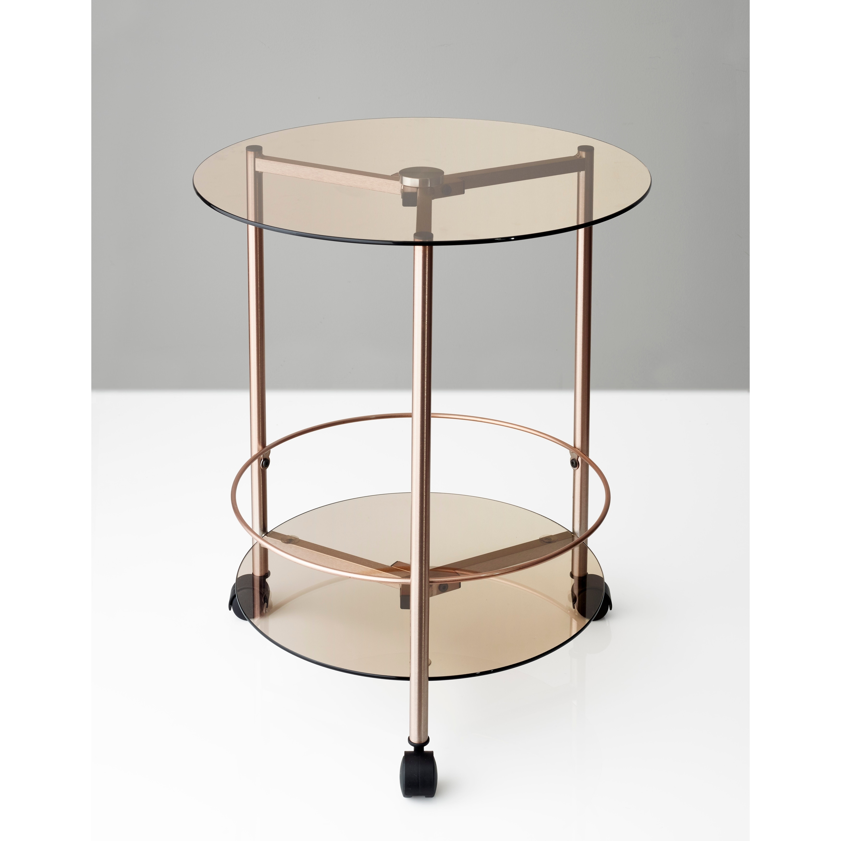Shop Adesso Gibson Rolling End Table   Free Shipping Today   Overstock.com    21123344