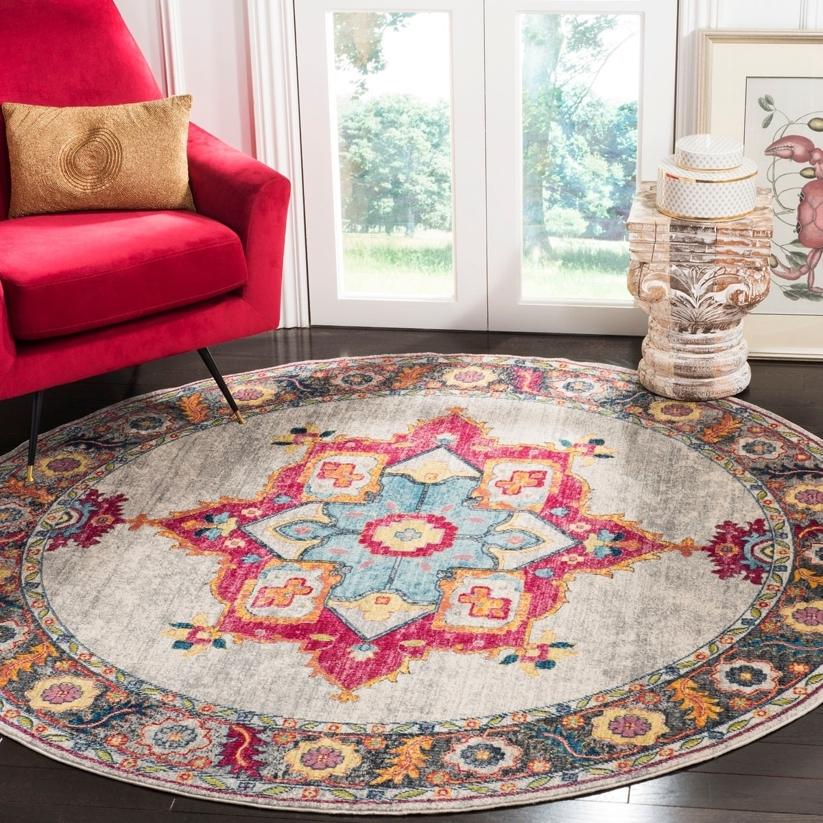 Shop Safavieh Merlot Modern Contemporary Cream Multi Rug 6 7