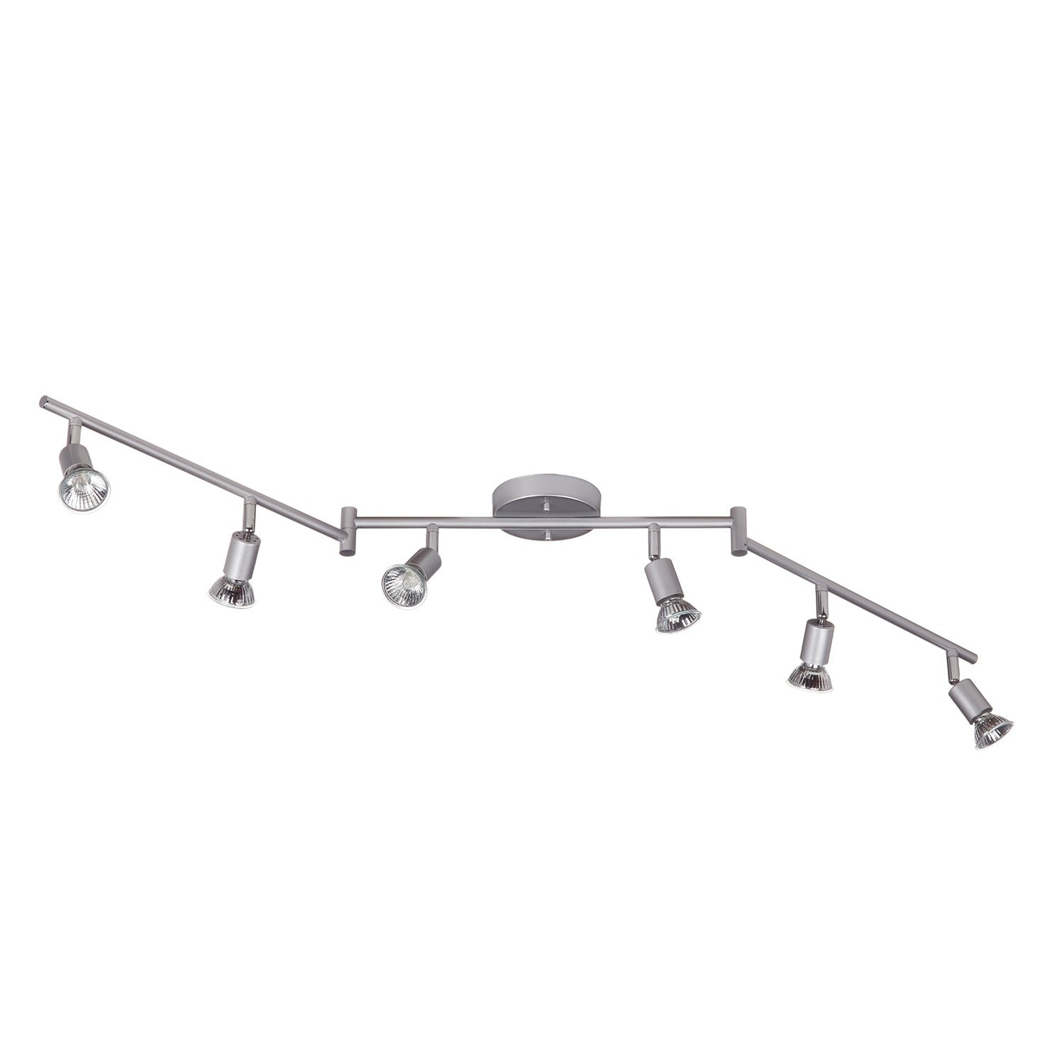 Payton 6 Light Foldable Track Lighting Painted Silver Finish Free Shipping Today 21130067