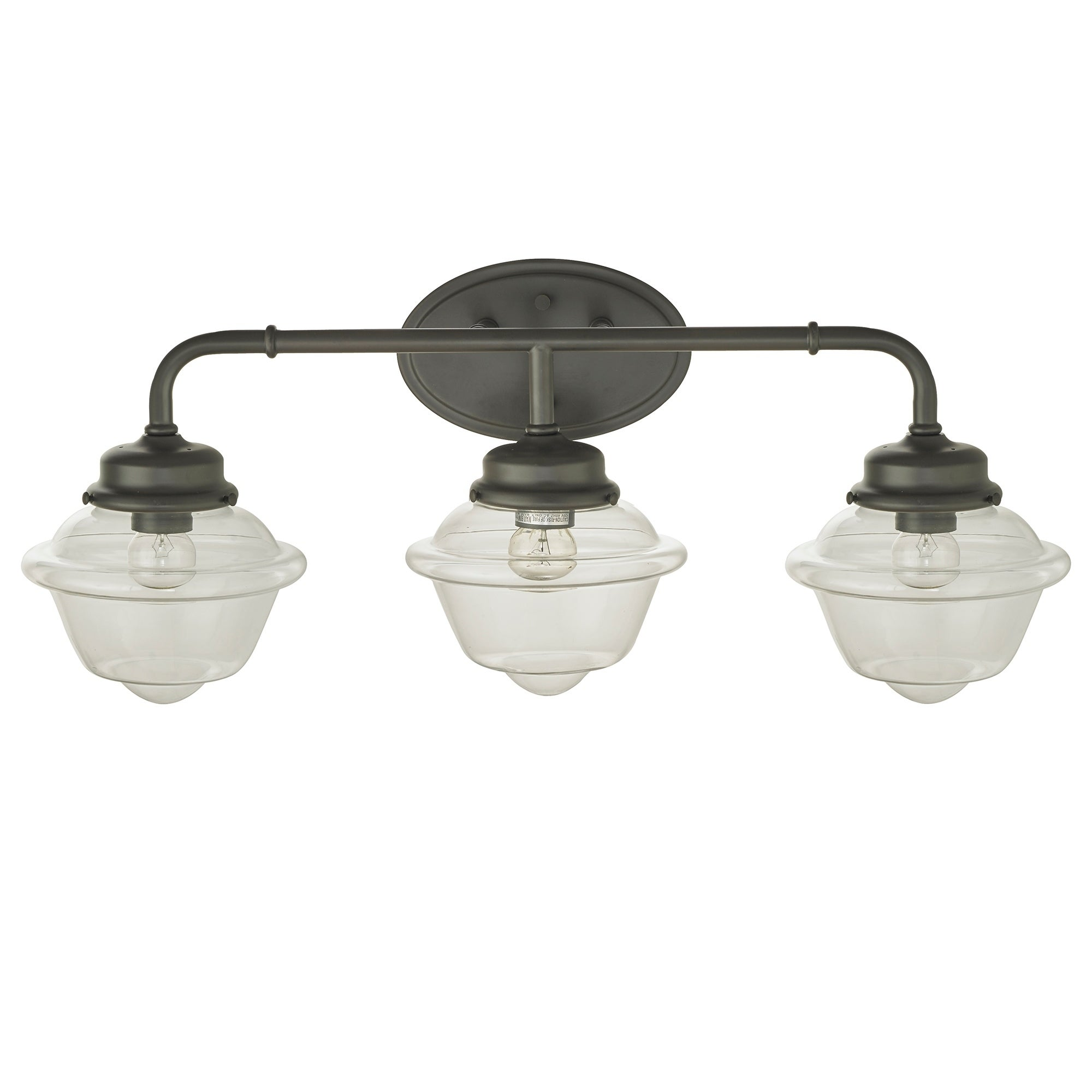 Shop Sylvester Oil Rubbed Bronze Light Wall Sconce With Glass - 3 light bathroom sconce