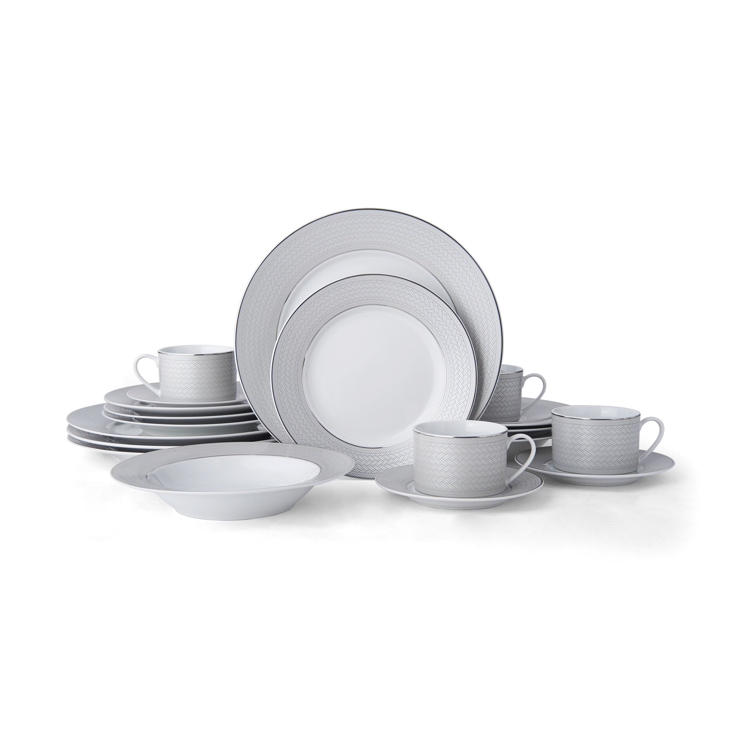 Shop Mikasa Percy Grey 20 Piece Dinnerware Set - On Sale - Free Shipping Today - Overstock.com - 21131348  sc 1 st  Overstock & Shop Mikasa Percy Grey 20 Piece Dinnerware Set - On Sale - Free ...