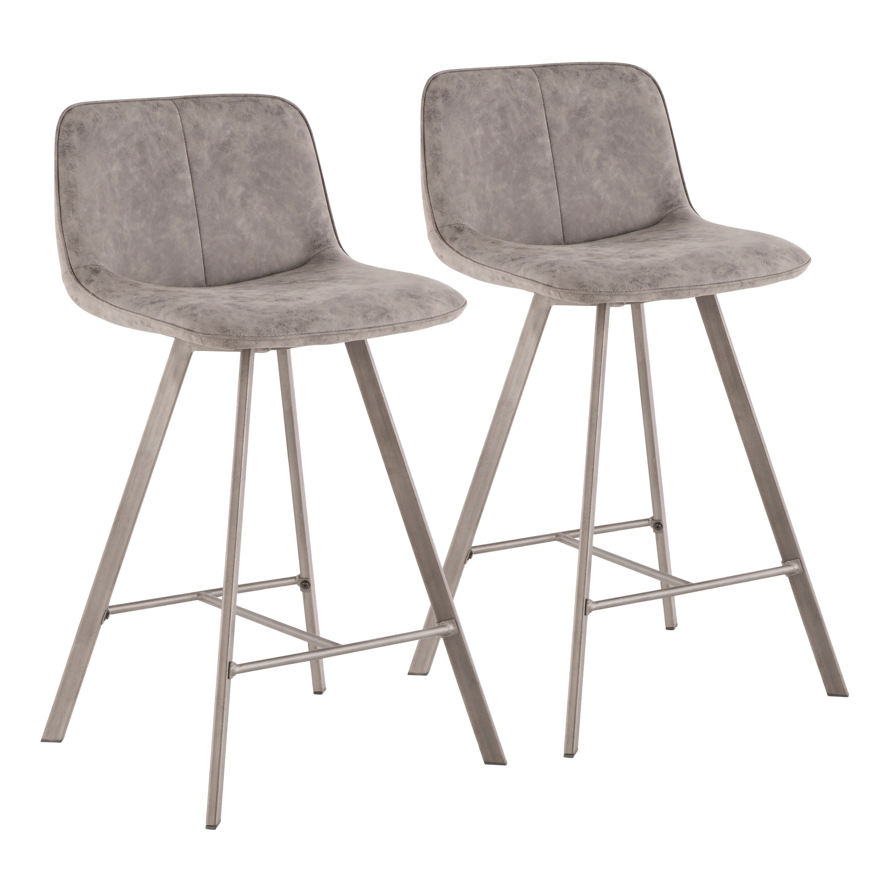 Shop Sedona 26 Industrial Upholstered Counter Stool Set Of 2 On