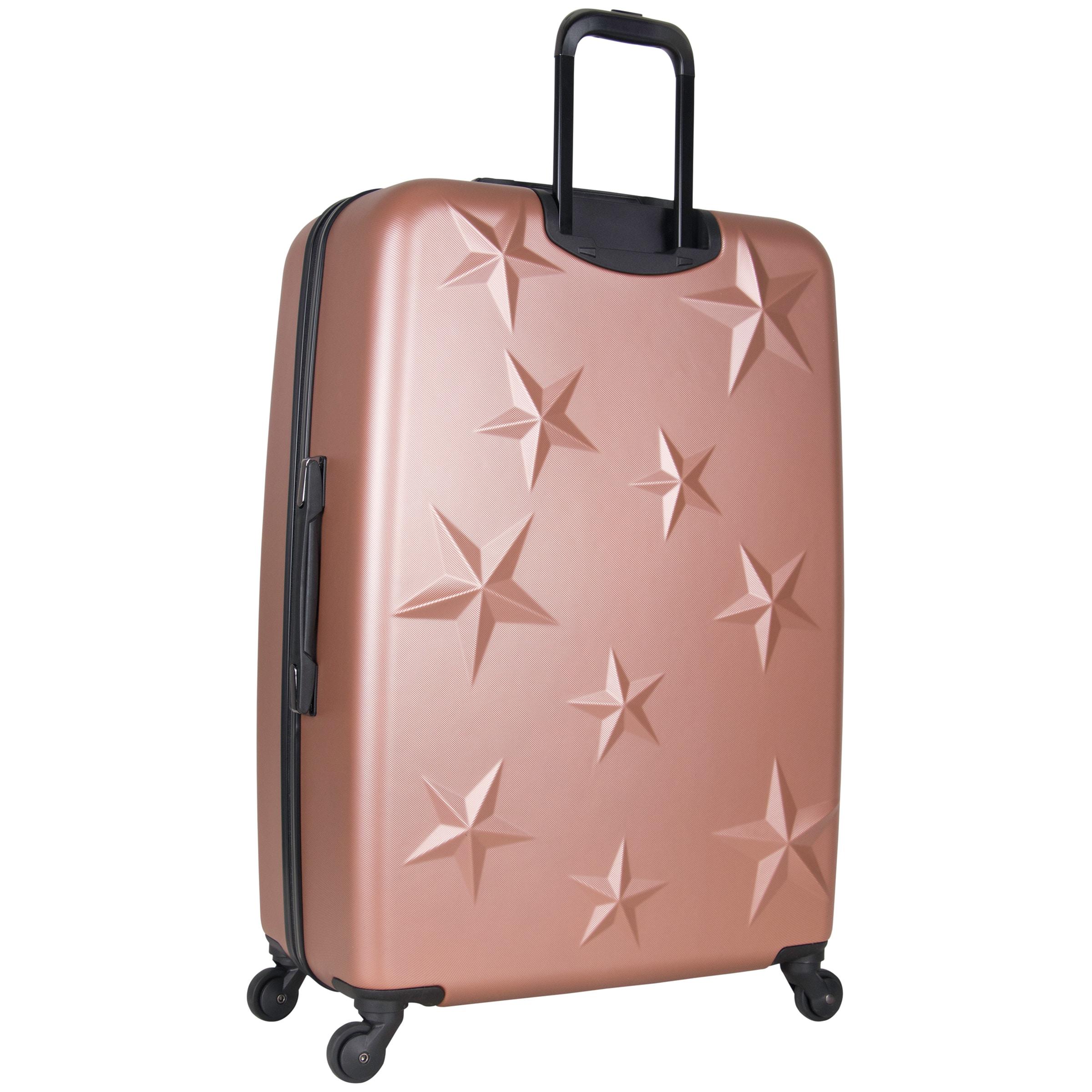 6a5c982b81c6 Aimee Kestenberg 'Star Journey' 3-Piece Lightweight Star Embossed Hardside  4-Wheel Spinner Upright Luggage Set