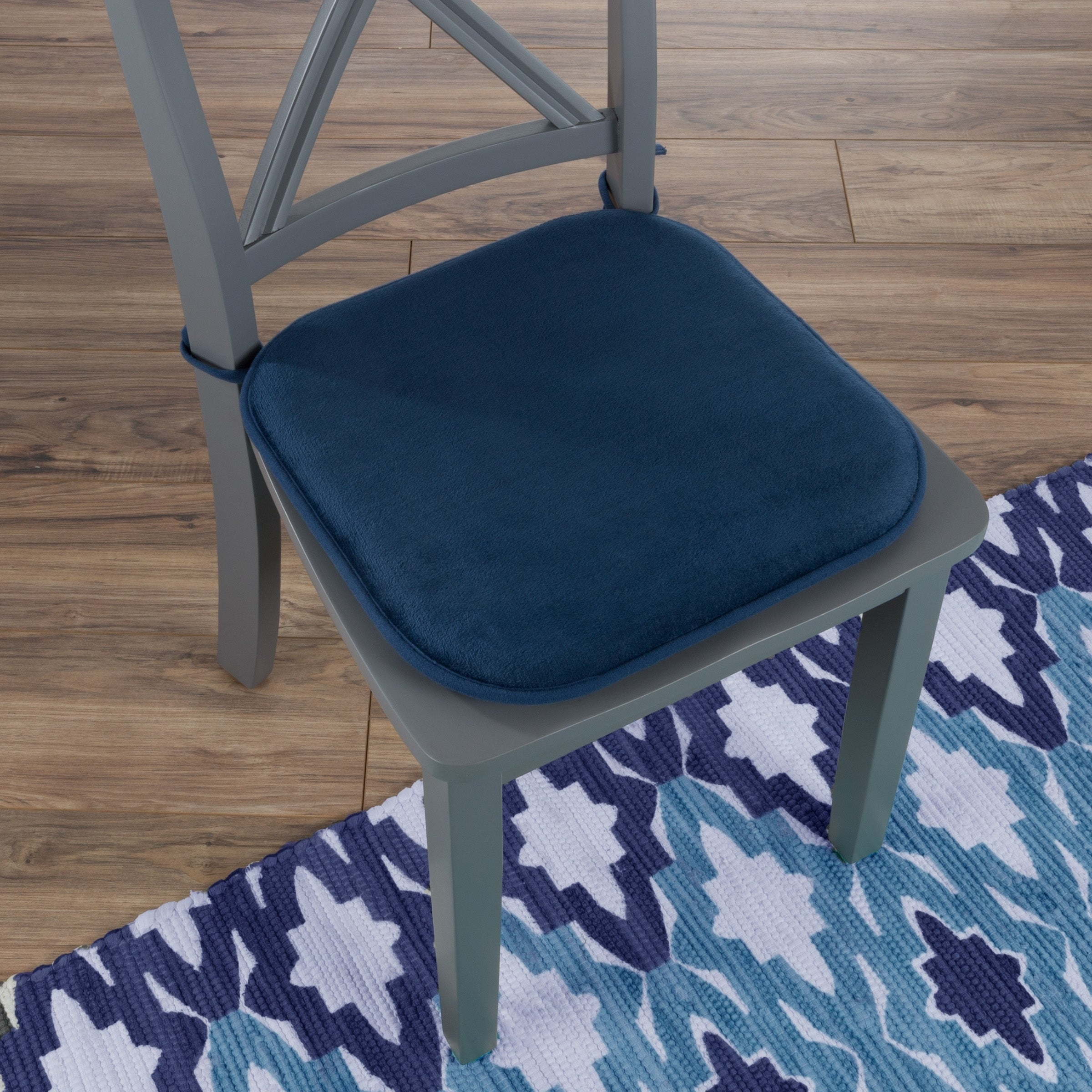 Shop Black Friday Deals On Memory Foam Chair Cushion 16 X 16 25 With Ties By Windsor Home On Sale Overstock 21143732