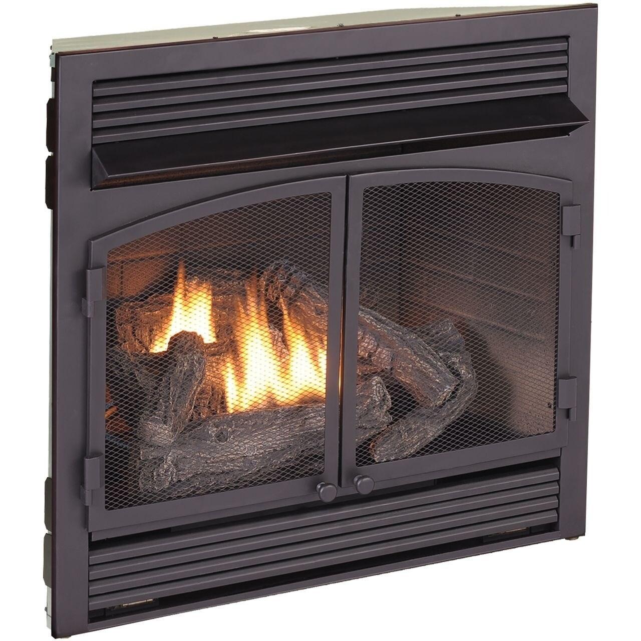 Shop Duluth Forge Dual Fuel Ventless Fireplace Insert 32 000 Btu