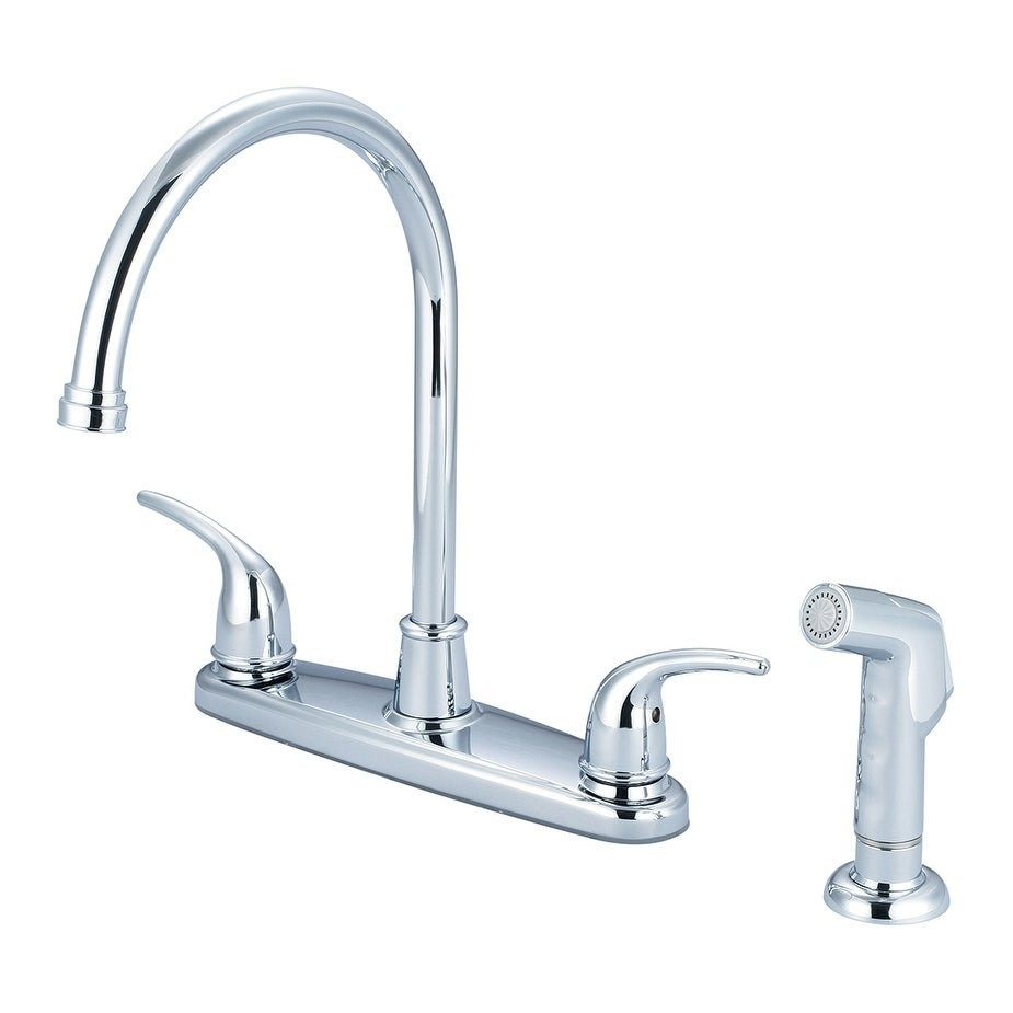 Accent 2 Handle Kitchen Faucet With Lever Handles And Spray