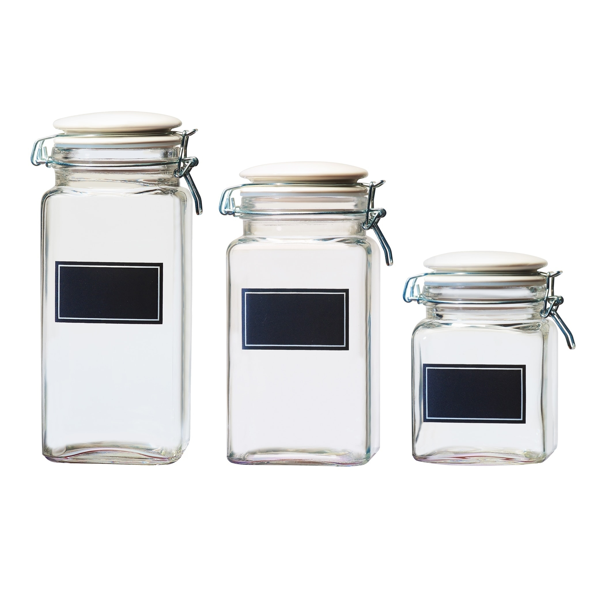 Cresta Chalkboard Hermetic Preserving Gl Canisters Orted Set Of 3 Small Medium And Large Free Shipping On Orders Over 45