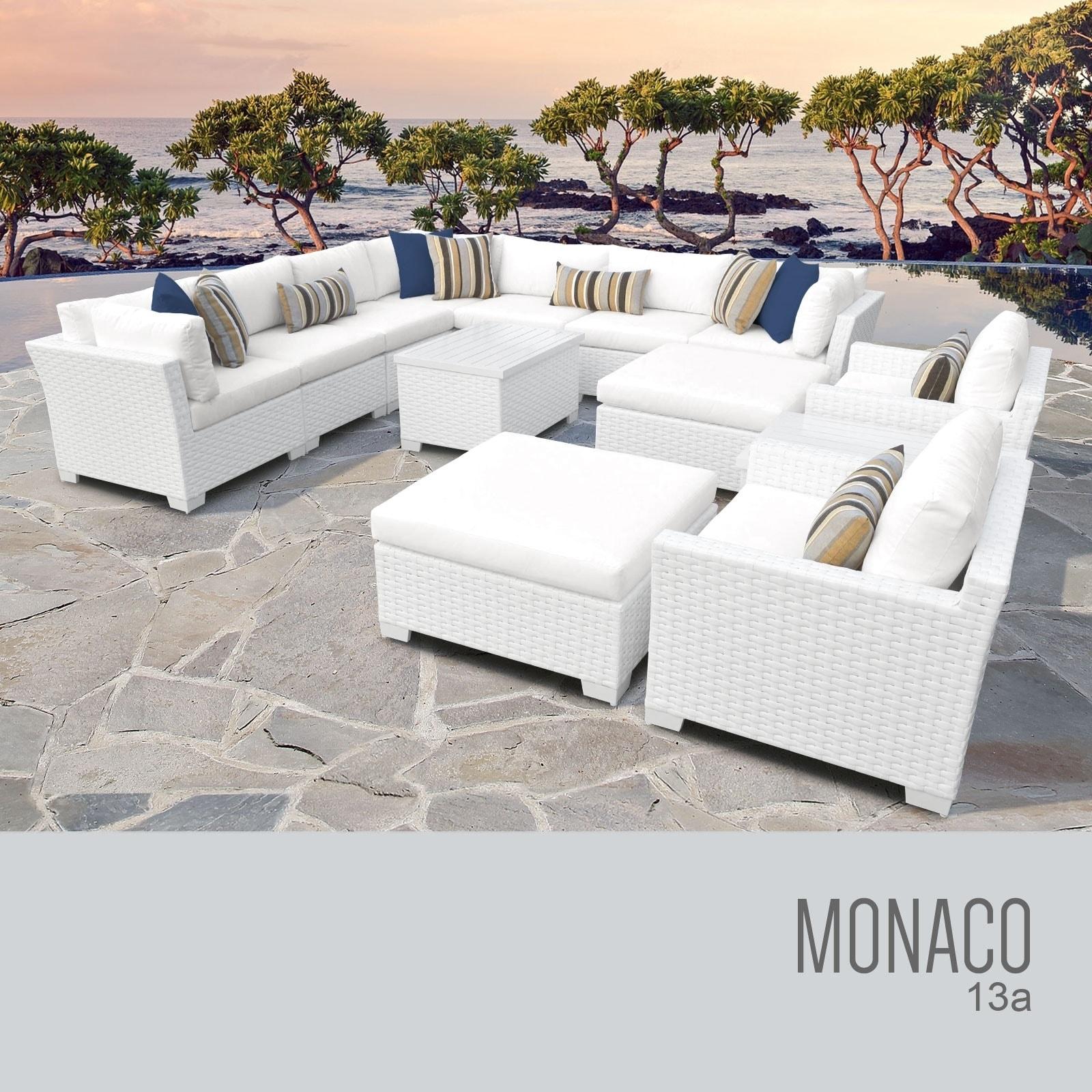 Monaco 13 piece outdoor wicker patio furniture set 13a
