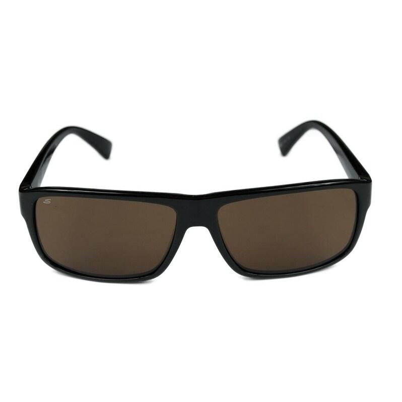 cb5b655a20 Shop Serengeti Claudio Sunglasses - Black - Medium - Free Shipping Today -  Overstock.com - 21158719