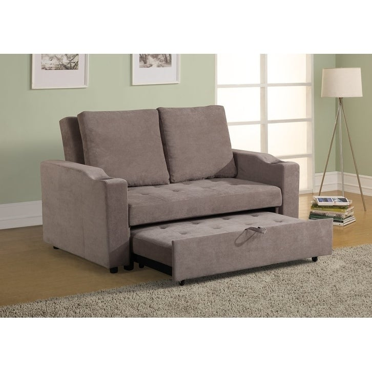Attirant Shop Mini Max Decor Modern 2 In 1 Pullout Sofa Large   Free Shipping Today    Overstock.com   21160061