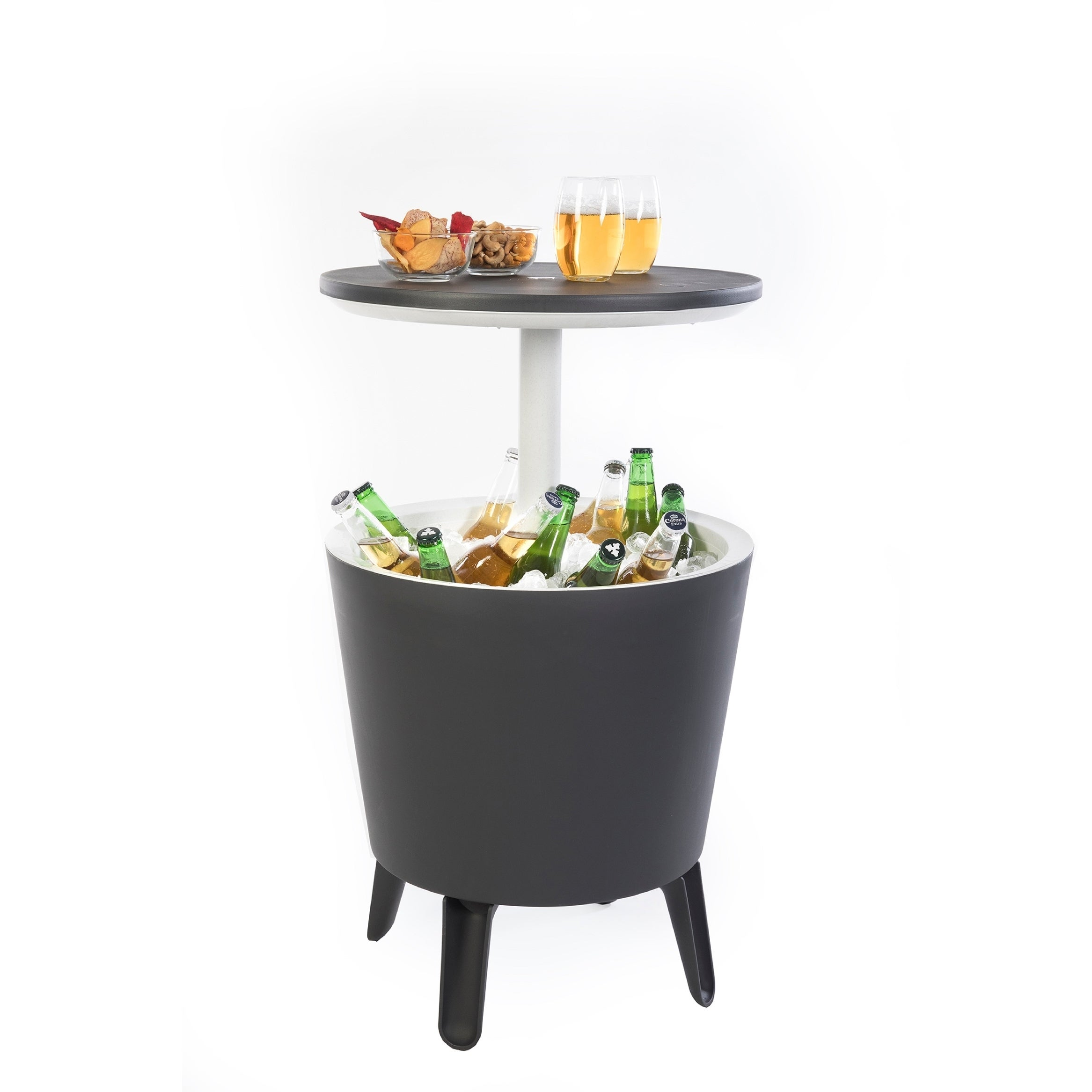 shop keter cool bar patio beverage cooler bar table free shipping