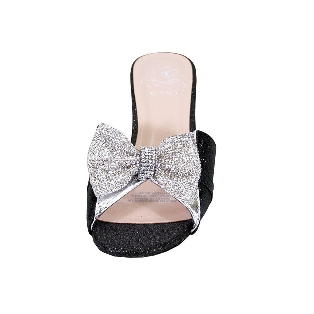 95a4df81101138 Shop FLORAL Farrah Women Wide Width Rhinestone Bow Ornate Block Heel Sandal  - Free Shipping Today - Overstock - 21165755