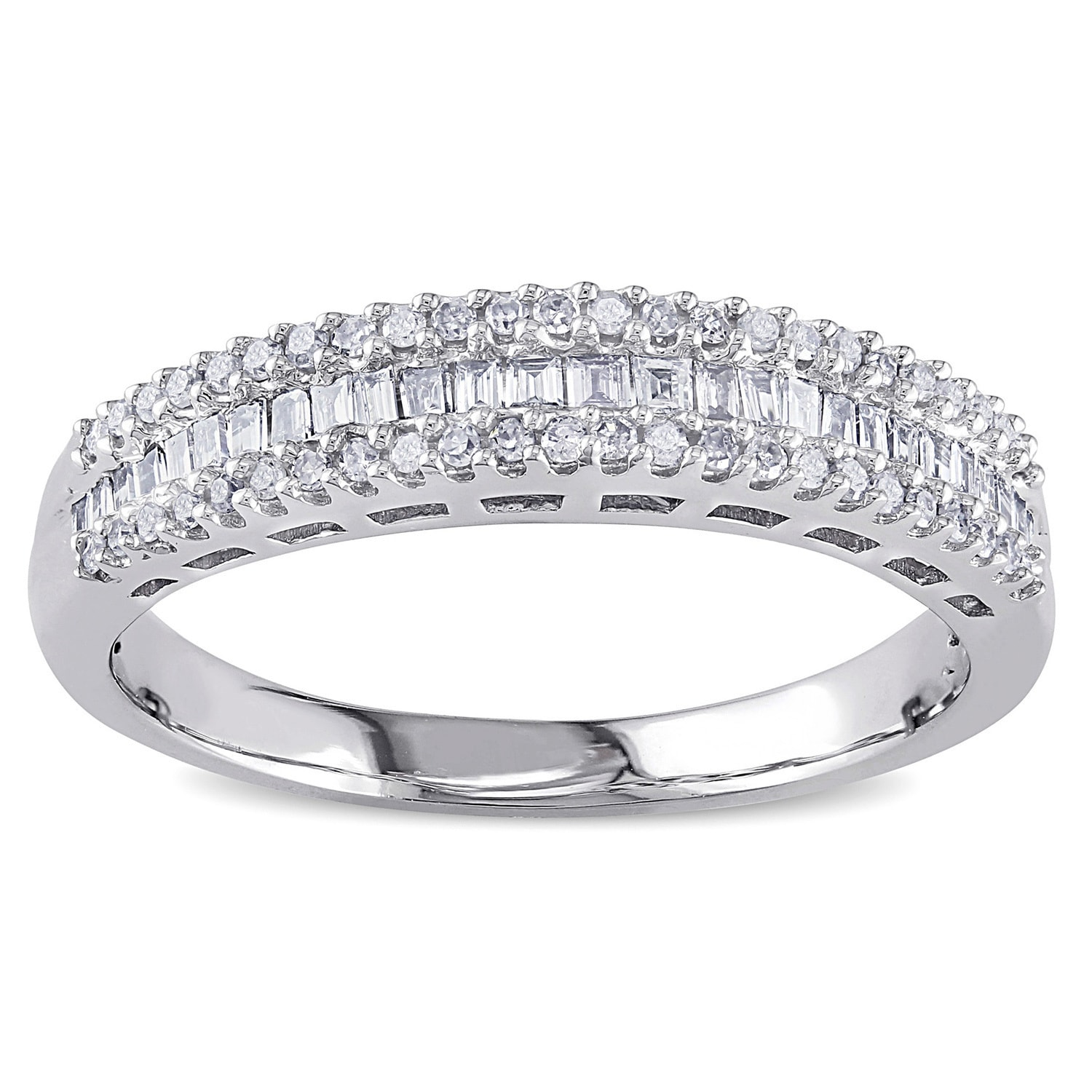 baguette cut half diamond w band bands round for g jewelers img her pierre eternity jean wedding