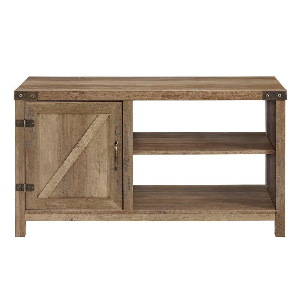 44 Inch Rustic Farmhouse Barn Door Console   Free Shipping Today    Overstock   26946689