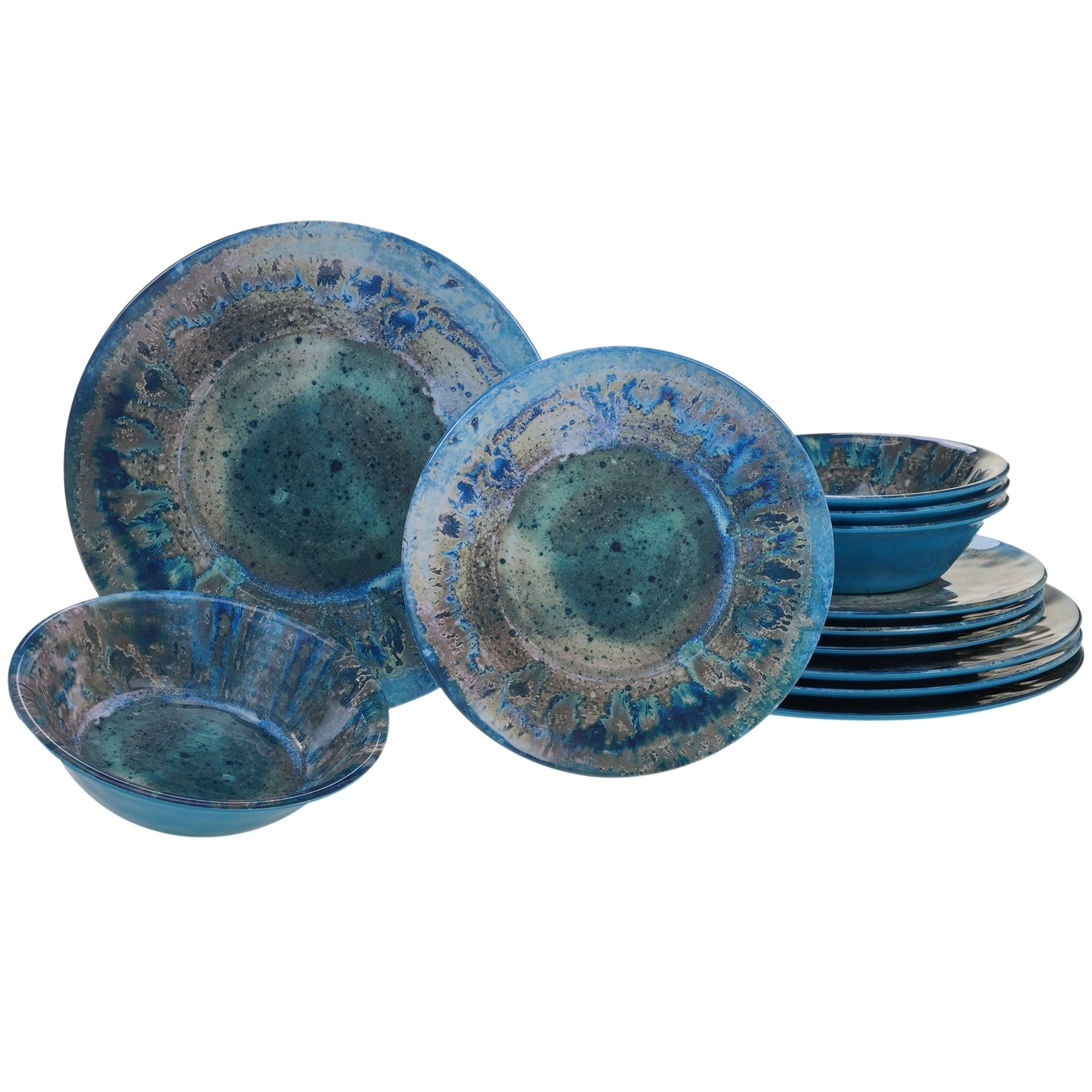 Certified International Radiance 12 Piece Melamine Dinnerware Set On Free Shipping Today 21175008