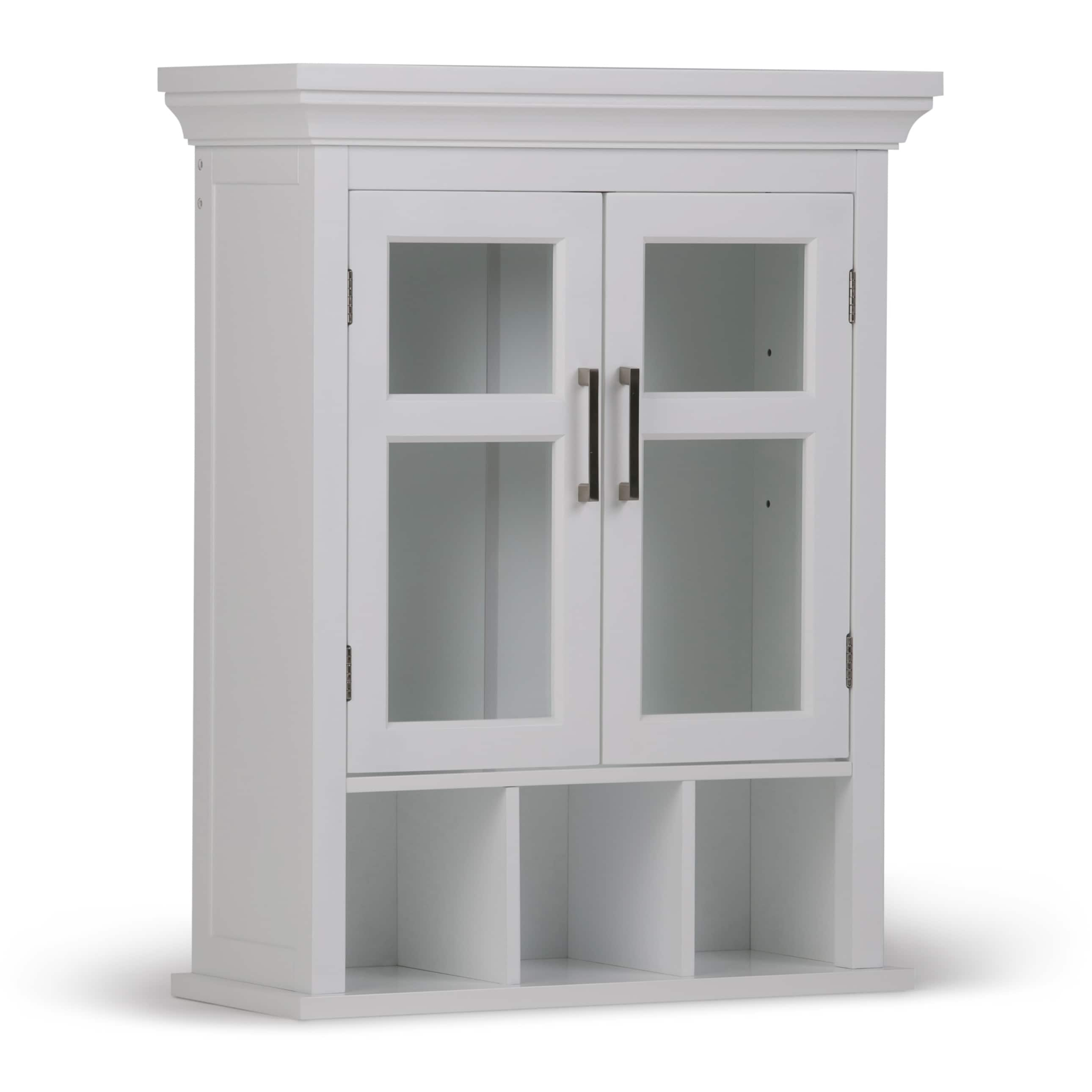 Shop Wyndenhall Hayes Two Door Bathroom Wall Cabinet With Cubbies In