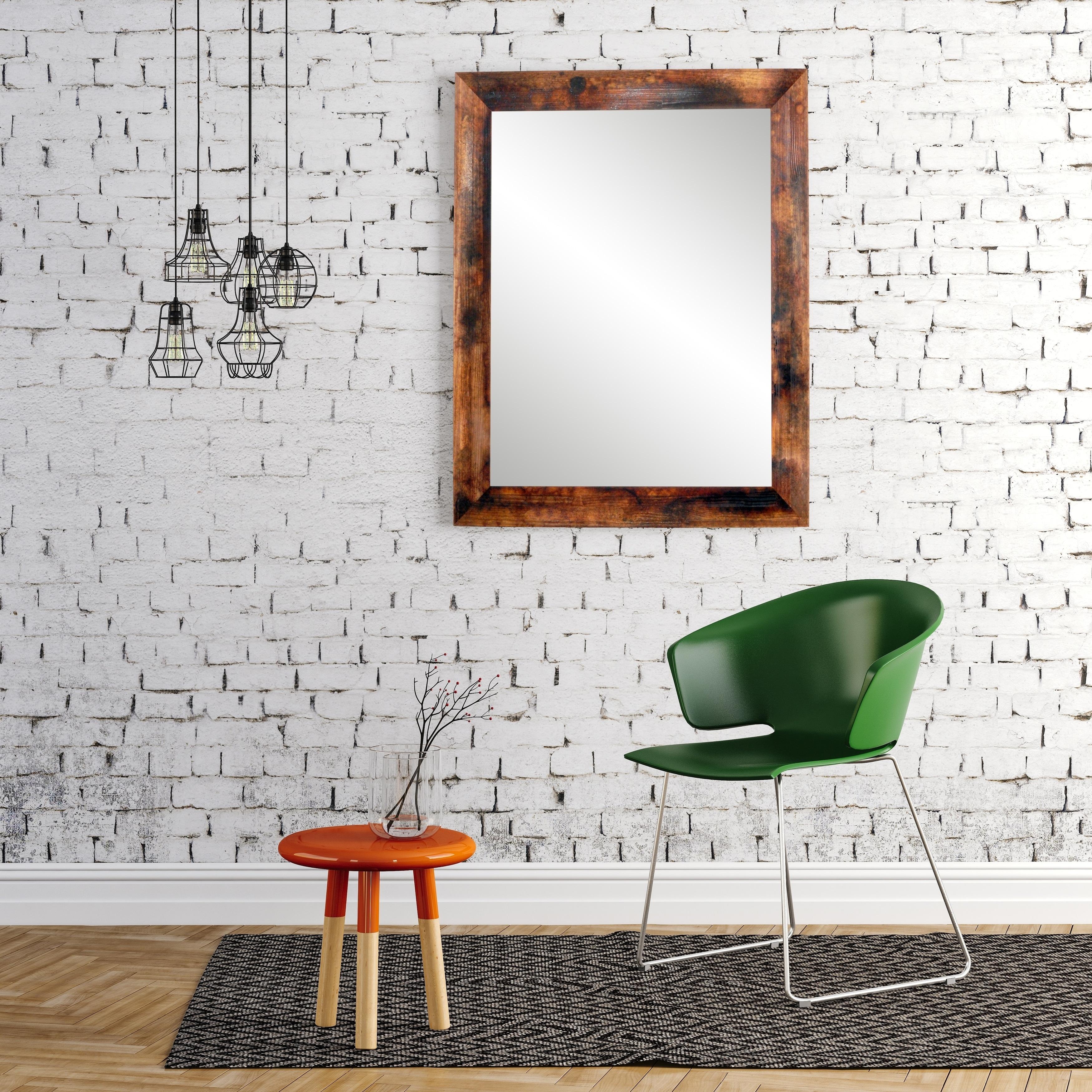 Shop Mixed Mahogany Wall Mirror Free Shipping Today Overstock