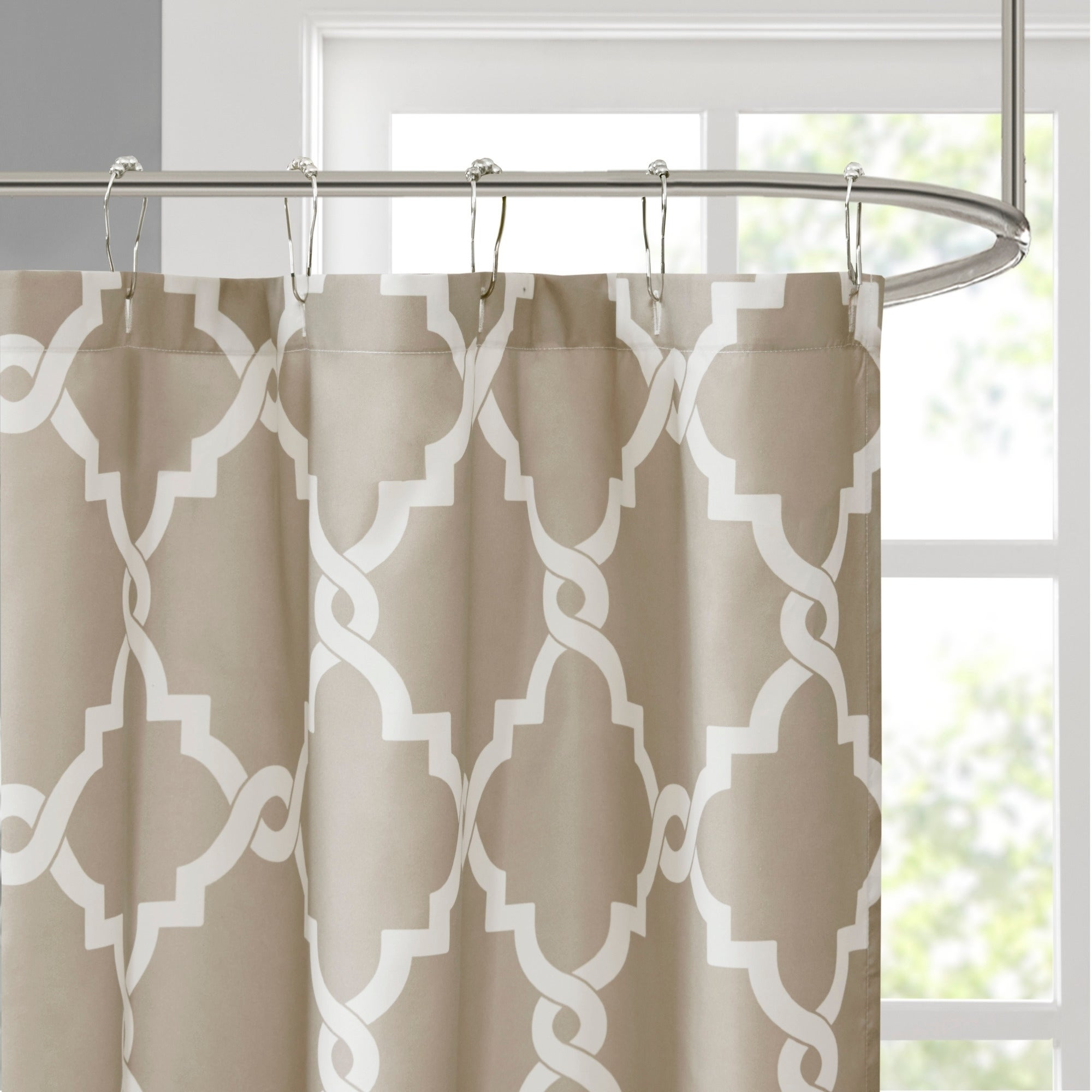 Shop Clay Alder Home Niantic Blue Chevron Shower Curtain - On Sale ...