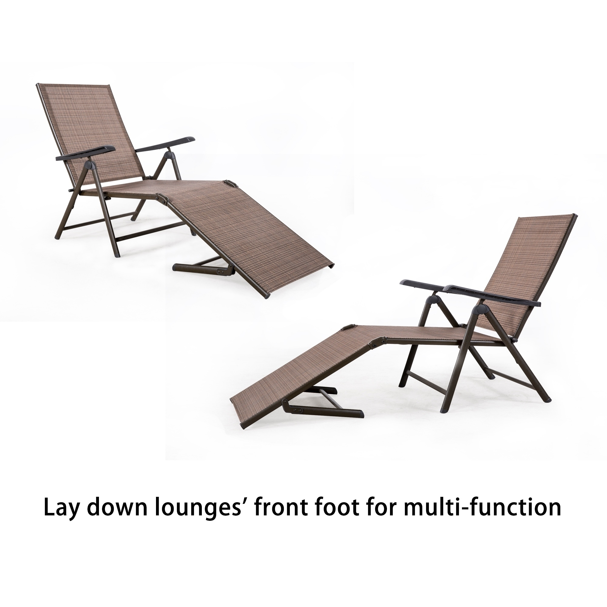 Shop Tan Outdoor Lounge Chair Set Of 2 Free Shipping Today