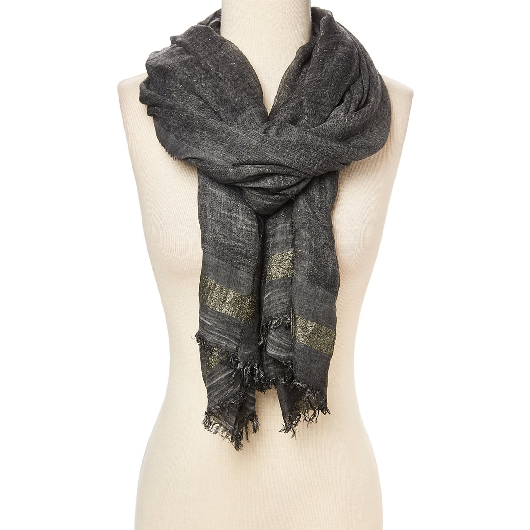 6b8b9f7ab5e Shop Grey Scarf for Women Scarf Fringe Hem Viscose Lightweight Fashionable  Women s Scarves Shawl Wrap - 32