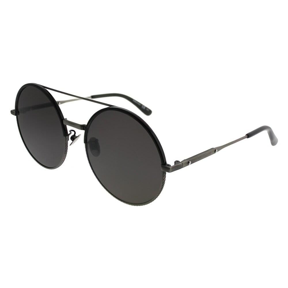 739513ef50 Bottega Veneta Round BV 0171S 001 Women Silver Frame Grey Lens Sunglasses