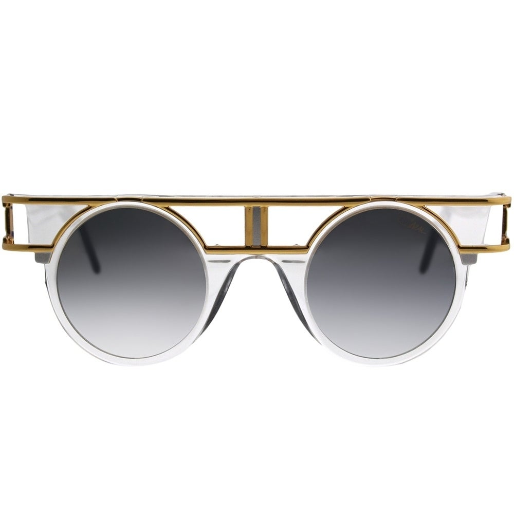 9591e5d24969 Shop Cazal Round Legends 002 Limited Edition 002SG Unisex Crystal Gold  Frame Silver Mirror Lens Sunglasses - Free Shipping Today - Overstock -  21184924