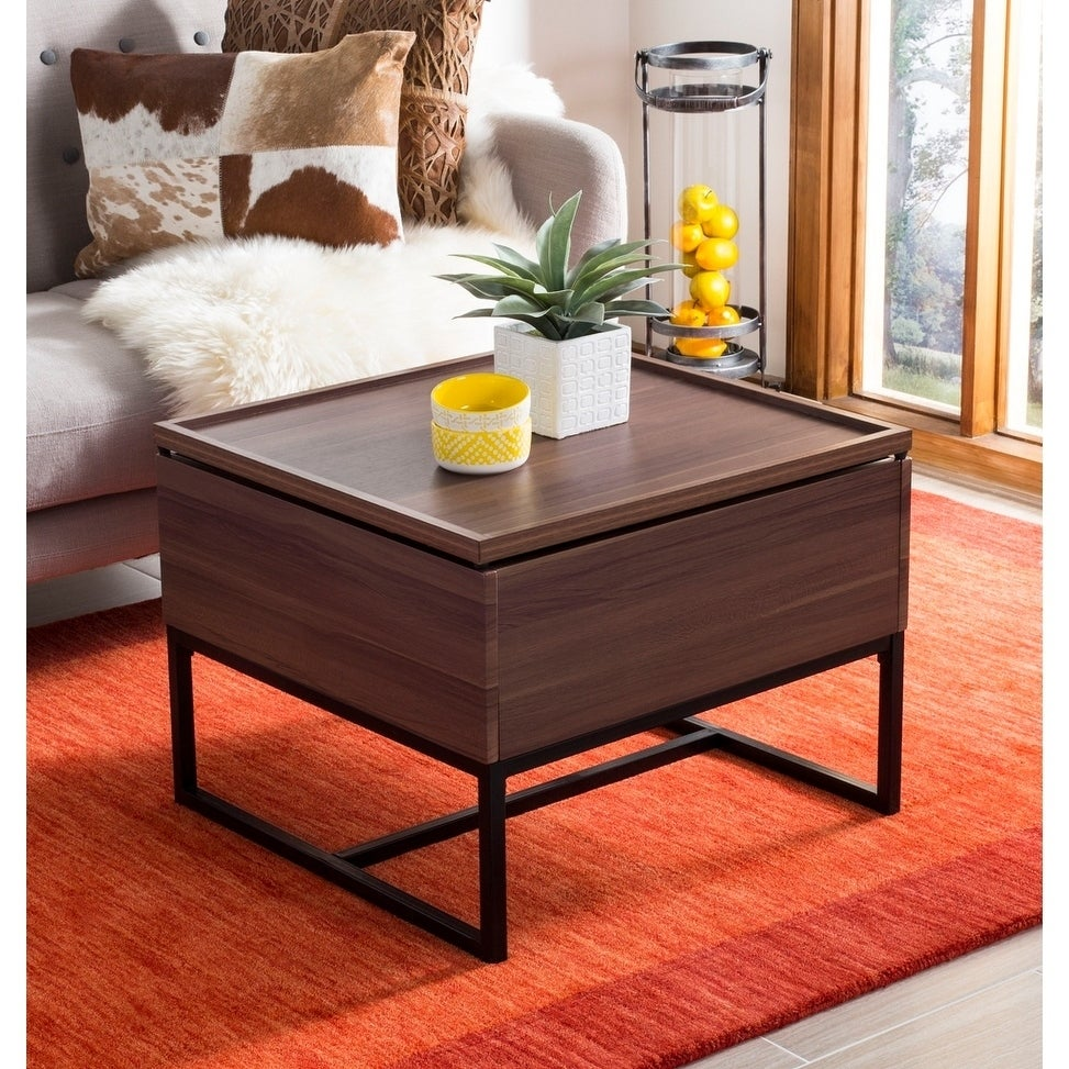 Nice Shop Safavieh Kristie Dark Oak/ Black Lift Top Coffee Table   Free Shipping  Today   Overstock.com   21185422