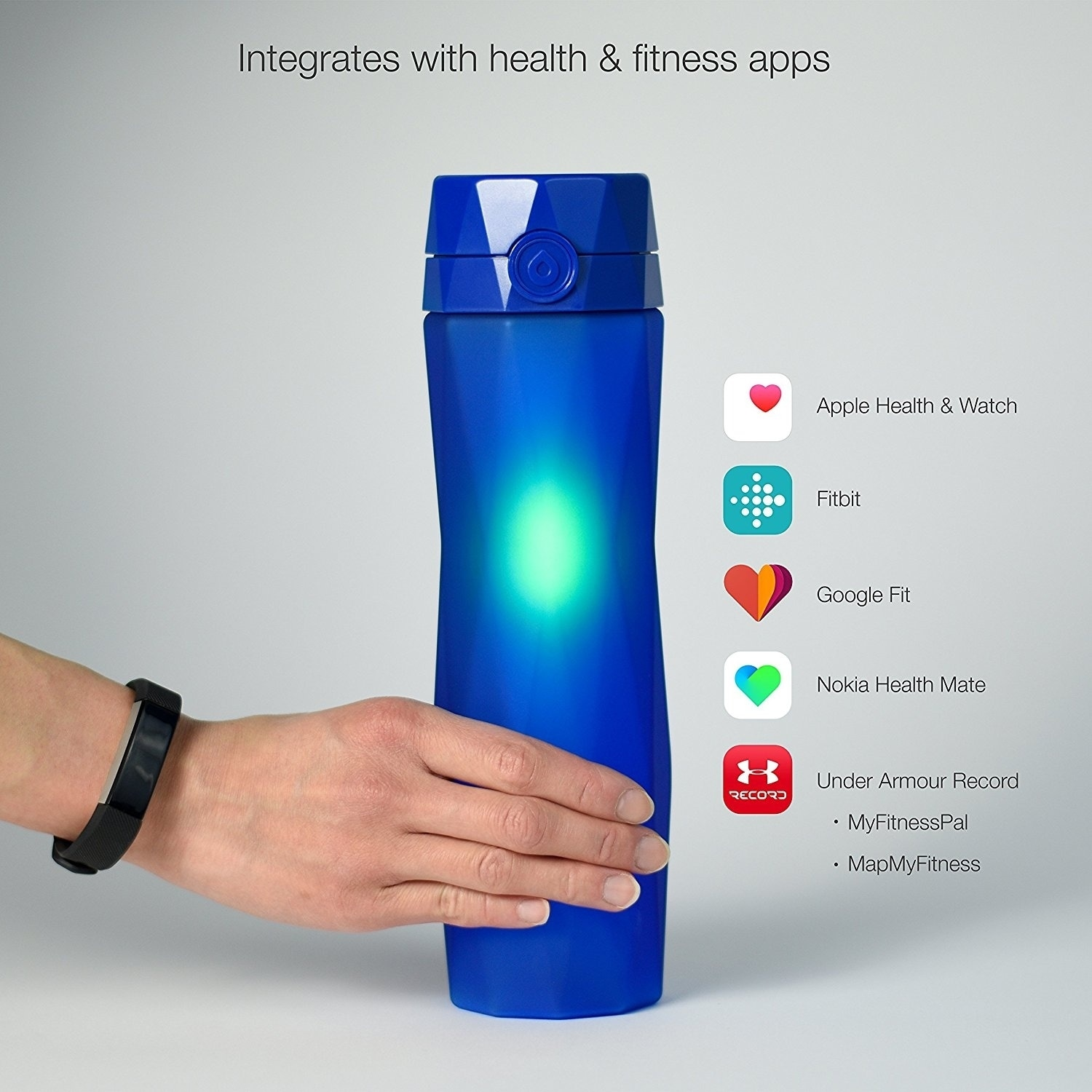 55f6657f23 Shop Hidrate Spark 2.0 Smart Water Bottle Royal Blue - 24 ounces - Free  Shipping Today - Overstock - 21185637