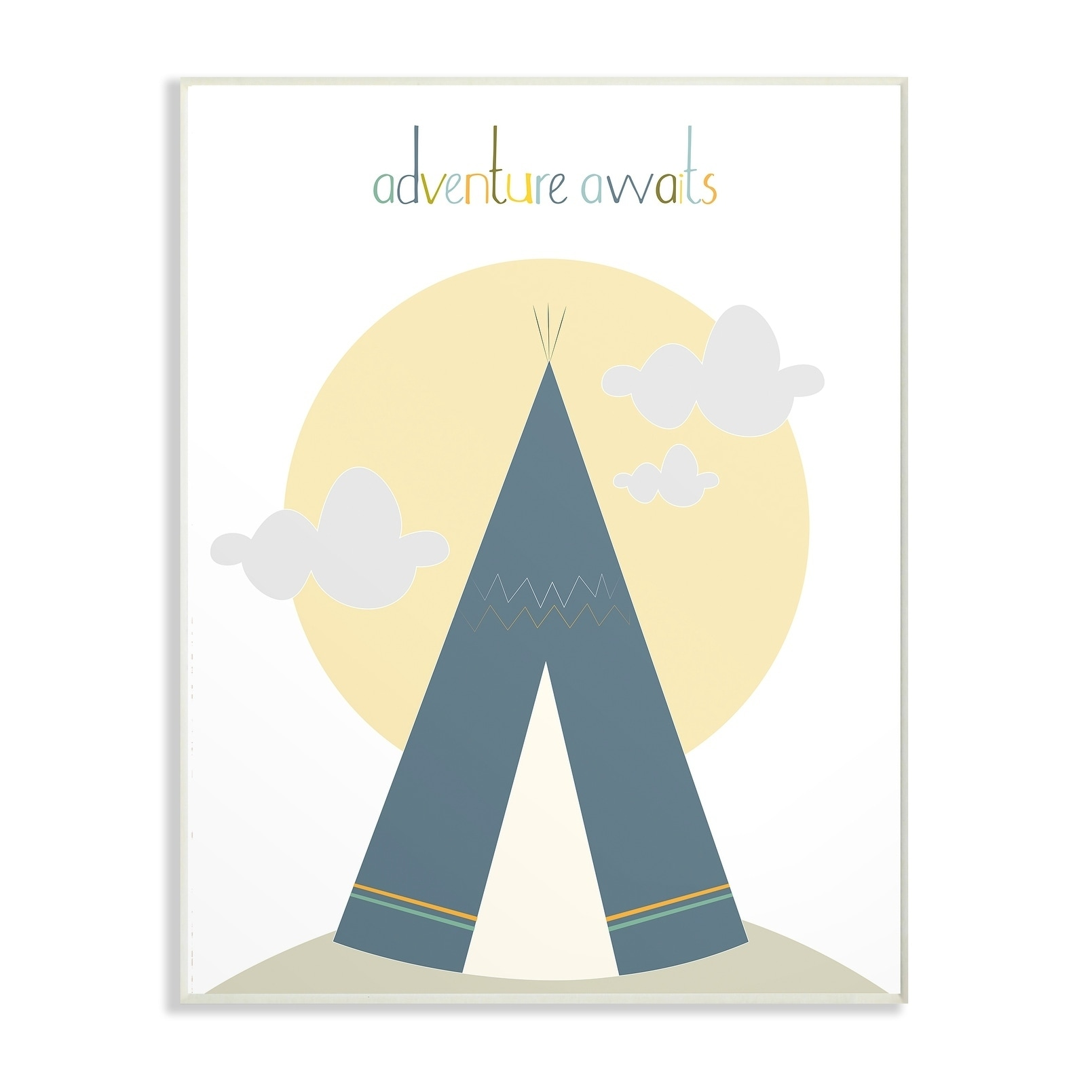 Shop The Kids Room by Stupell Adventure Awaits Tee Pee in Blue Wall ...