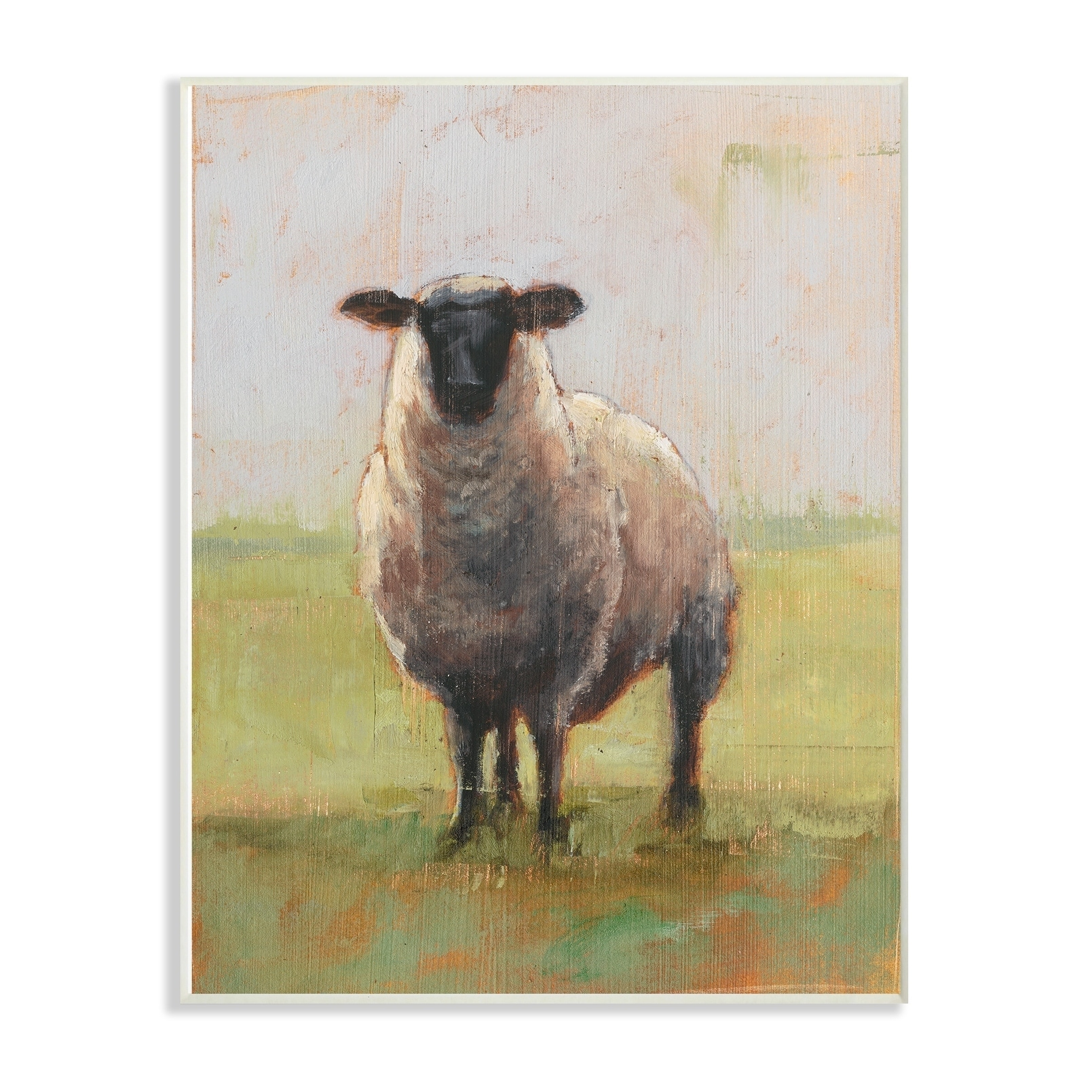 The Stupell Home Decor Collection Painterly Away From Flock Sheep Wall Plaque Art 10 X 05 15 Made In USA