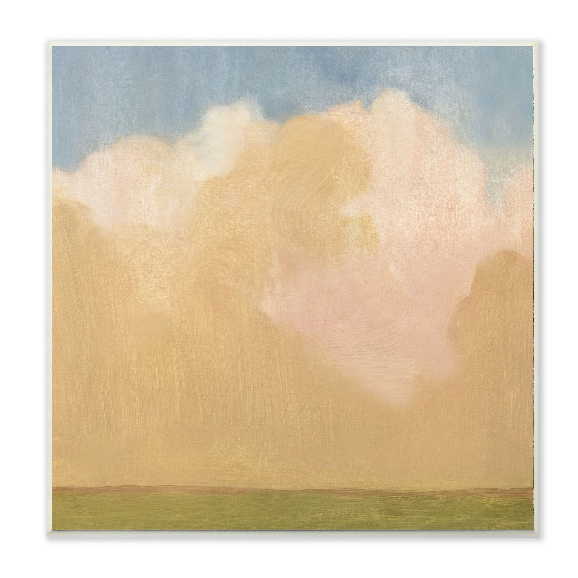 The Stupell Home Decor Collection Painted Fields Clouds Farm Wall ...