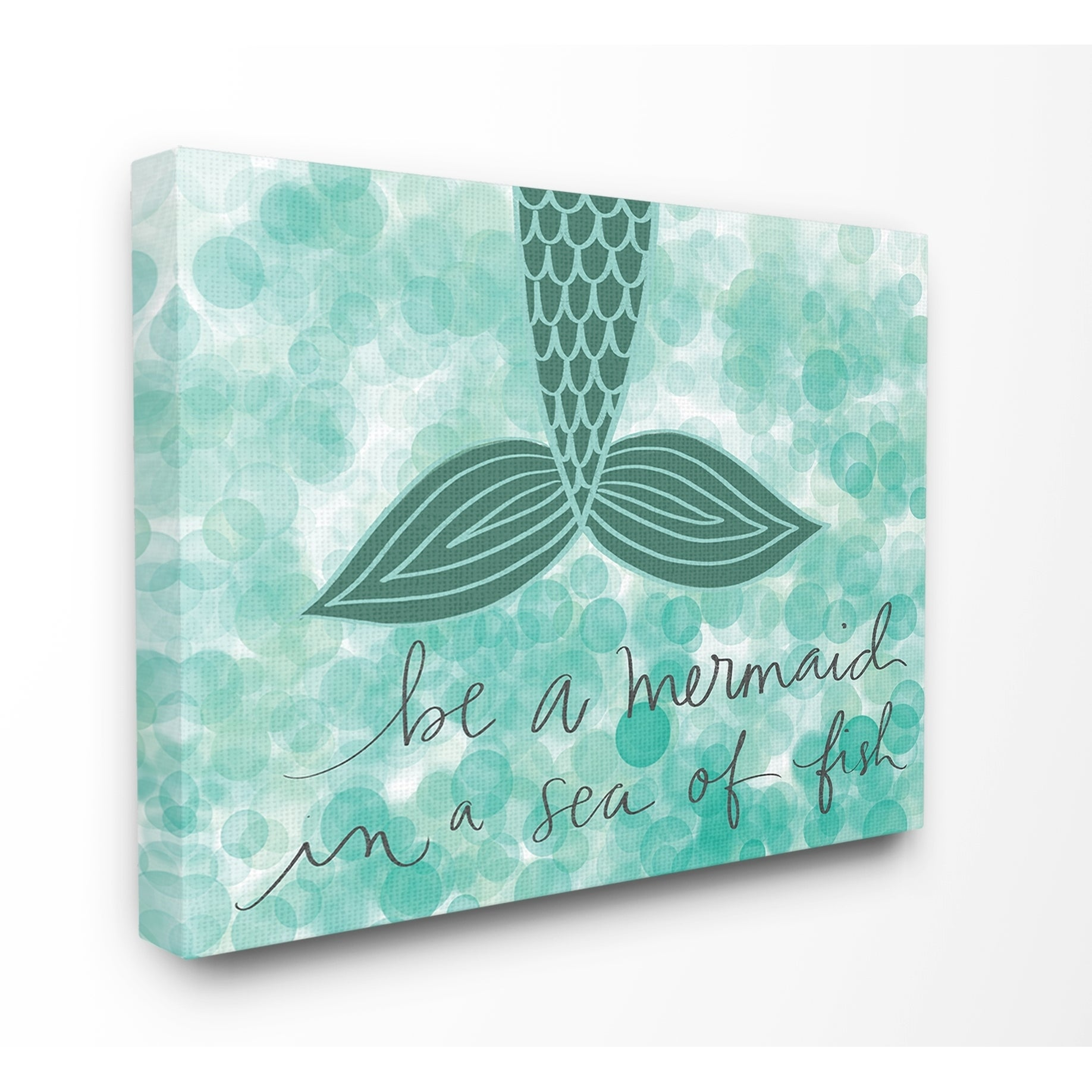 Shop The Kids Room by Stupell Teal and Green Script Be A Mermaid ...