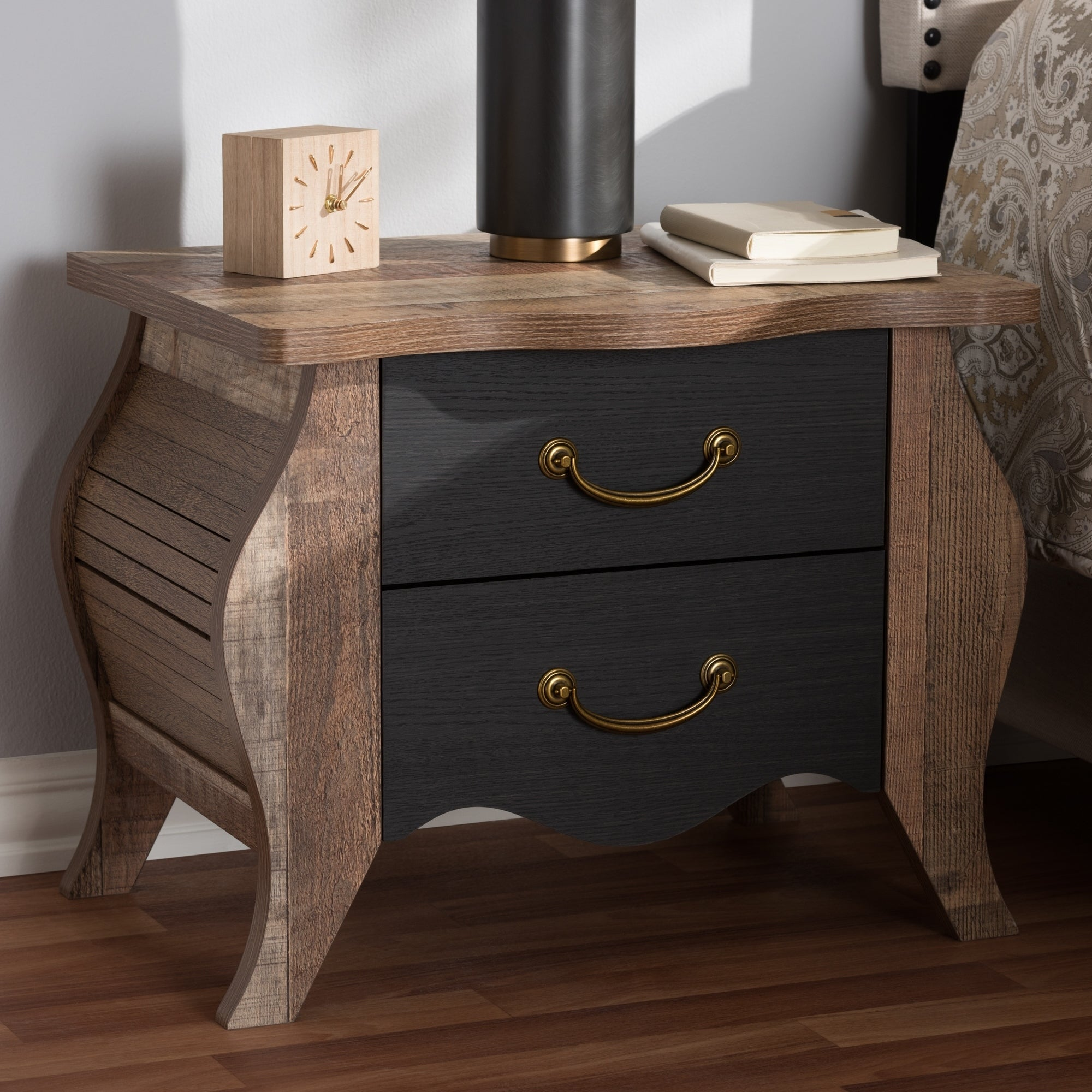 style oak country and romilly baxton studio pulls cottage cottages farmhouse black drawer finished wood chest