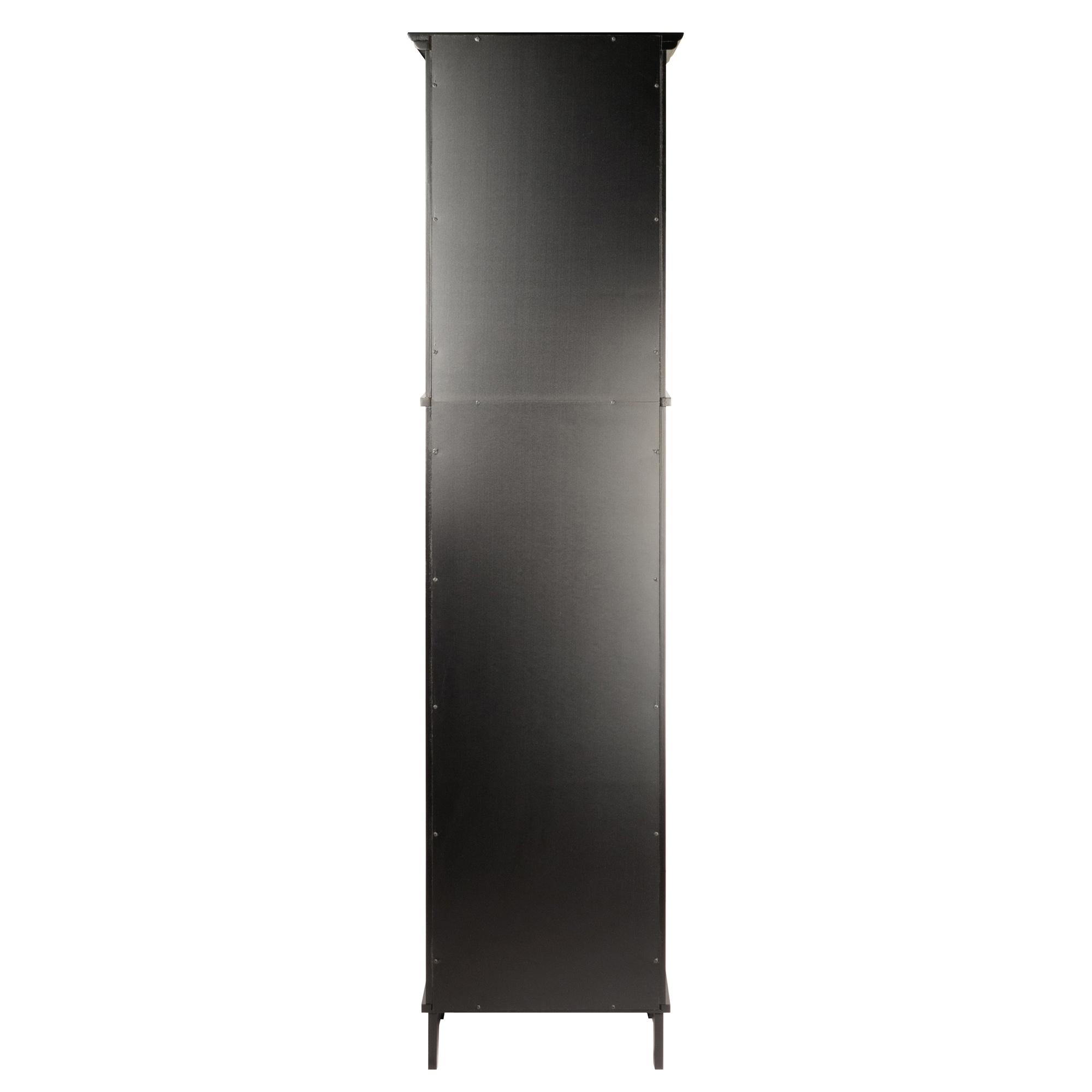 Alps Tall Cabinet With Glass Door And Drawer Free Shipping Today