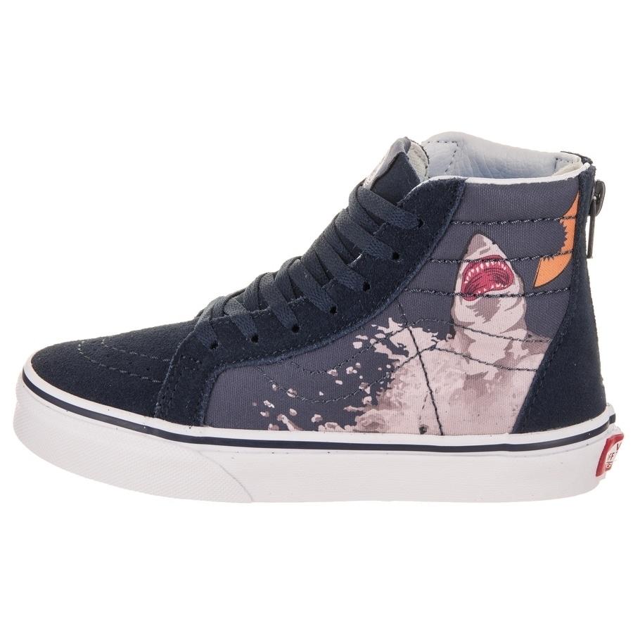 8bd6d639ef Shop Vans Kids Sk8-Hi Zip (Shark Attack) Skate Shoe - Free Shipping Today -  Overstock - 21206522