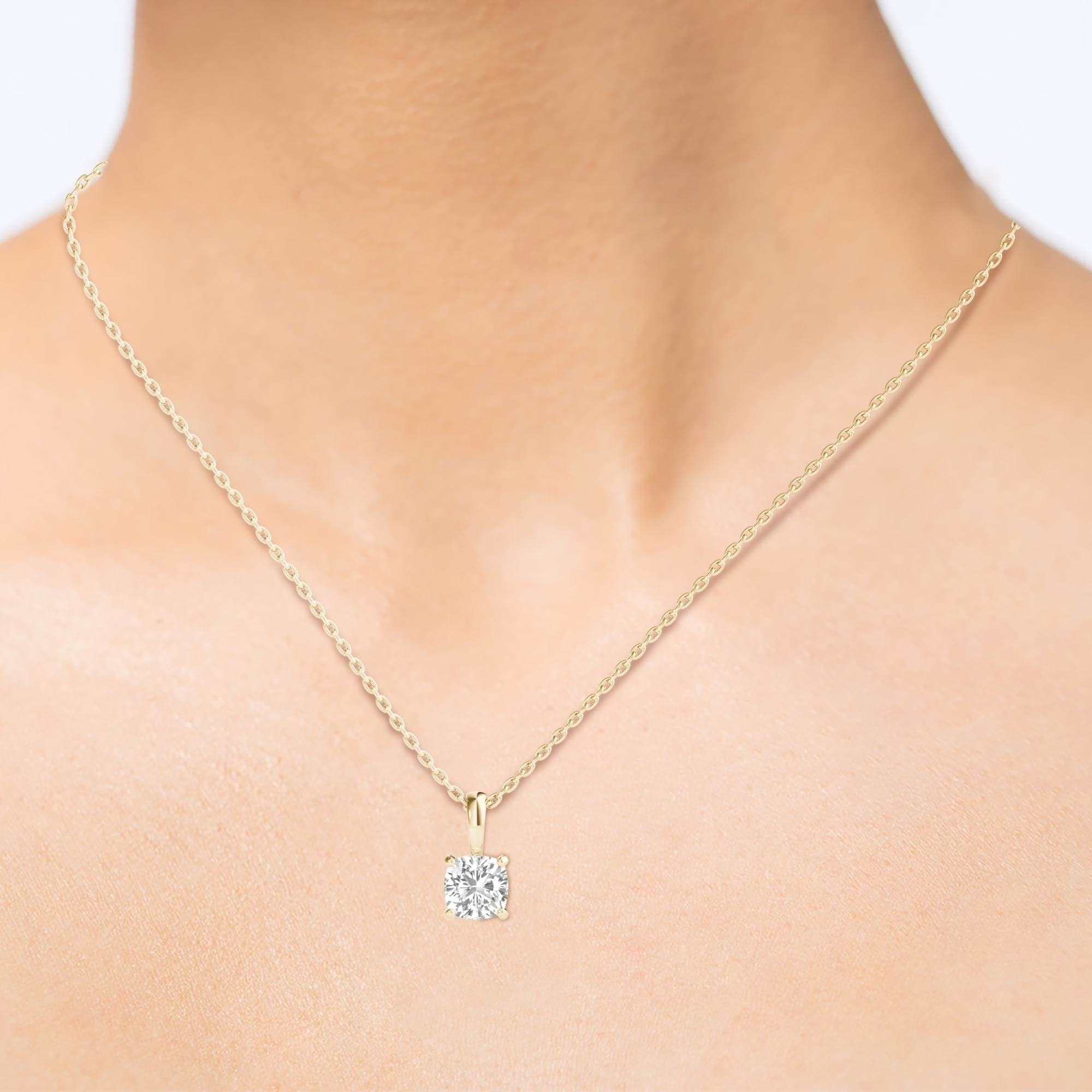 gold aquamarine img and cut diamond cushion pendant necklace white halo