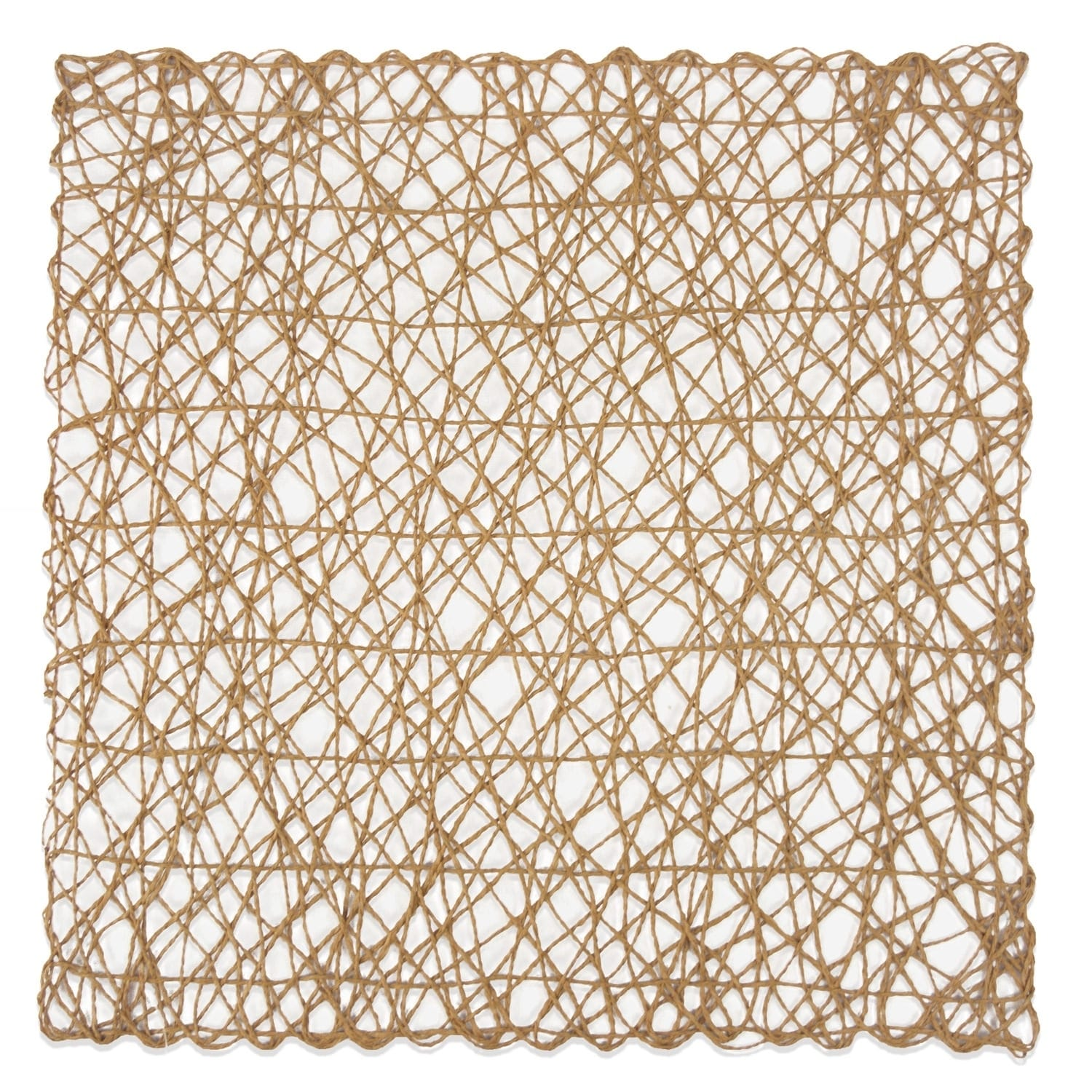 Design Imports Round Woven Paper Silver Kitchen Placemat Set (Set of ...