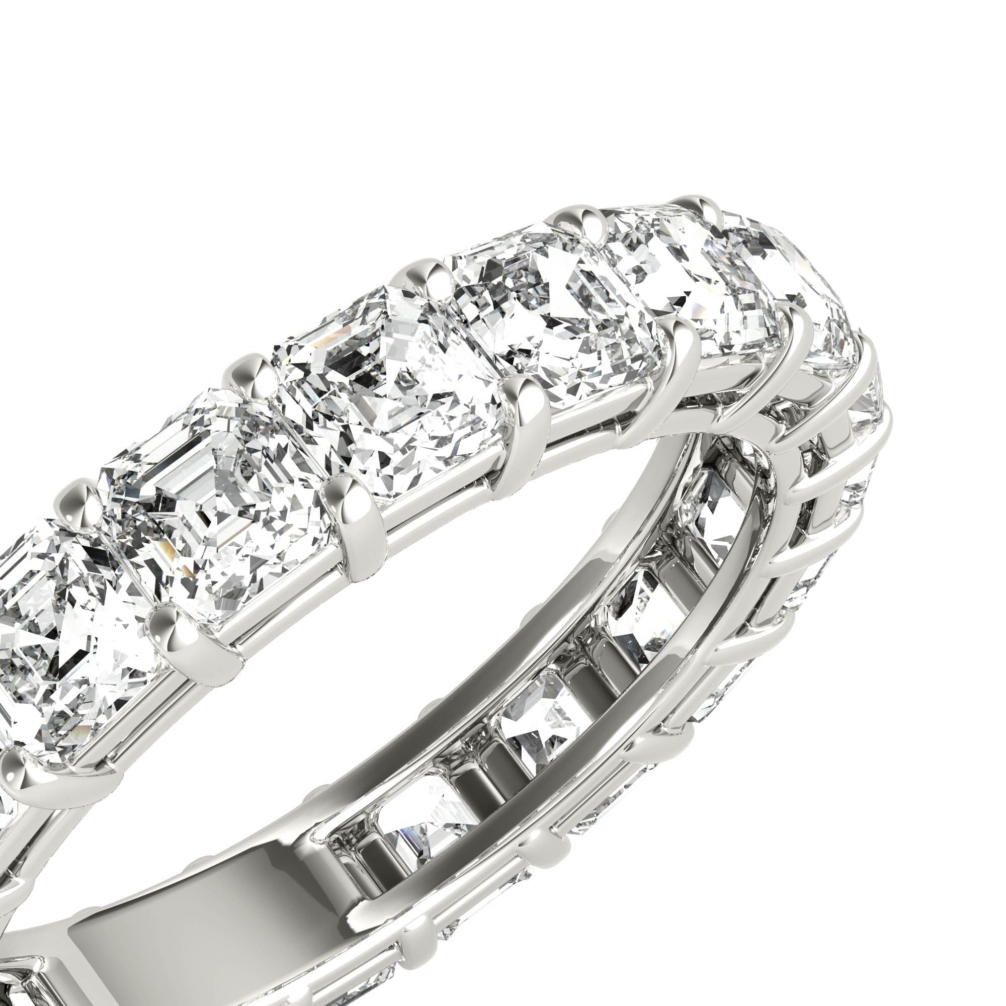 certified baguettes engagement platinum jewellery ring campbelljewellers asscher cut campbell gia rings products diamond bespoke tapper