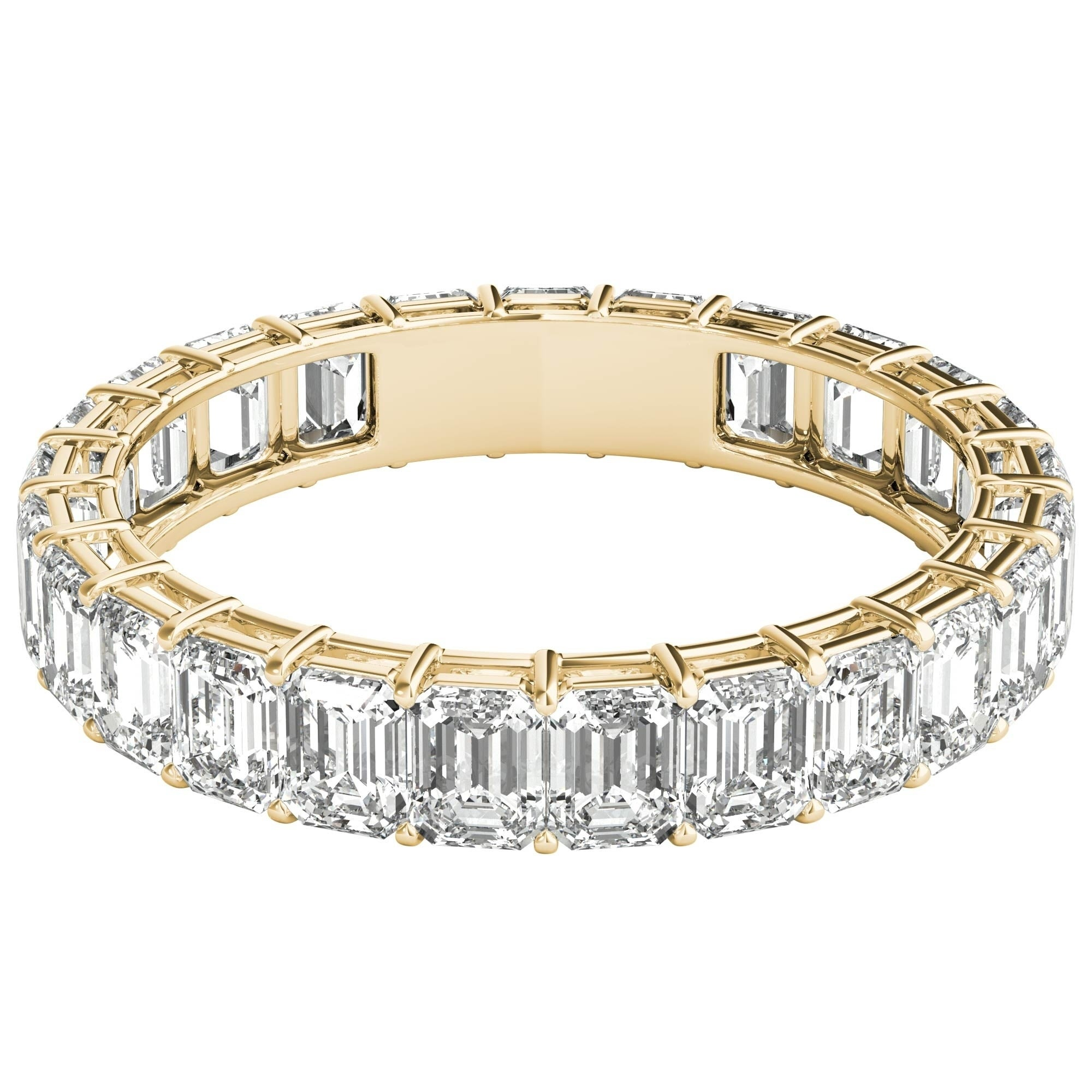 cut eternity diamond bands ring approx gold band white princess